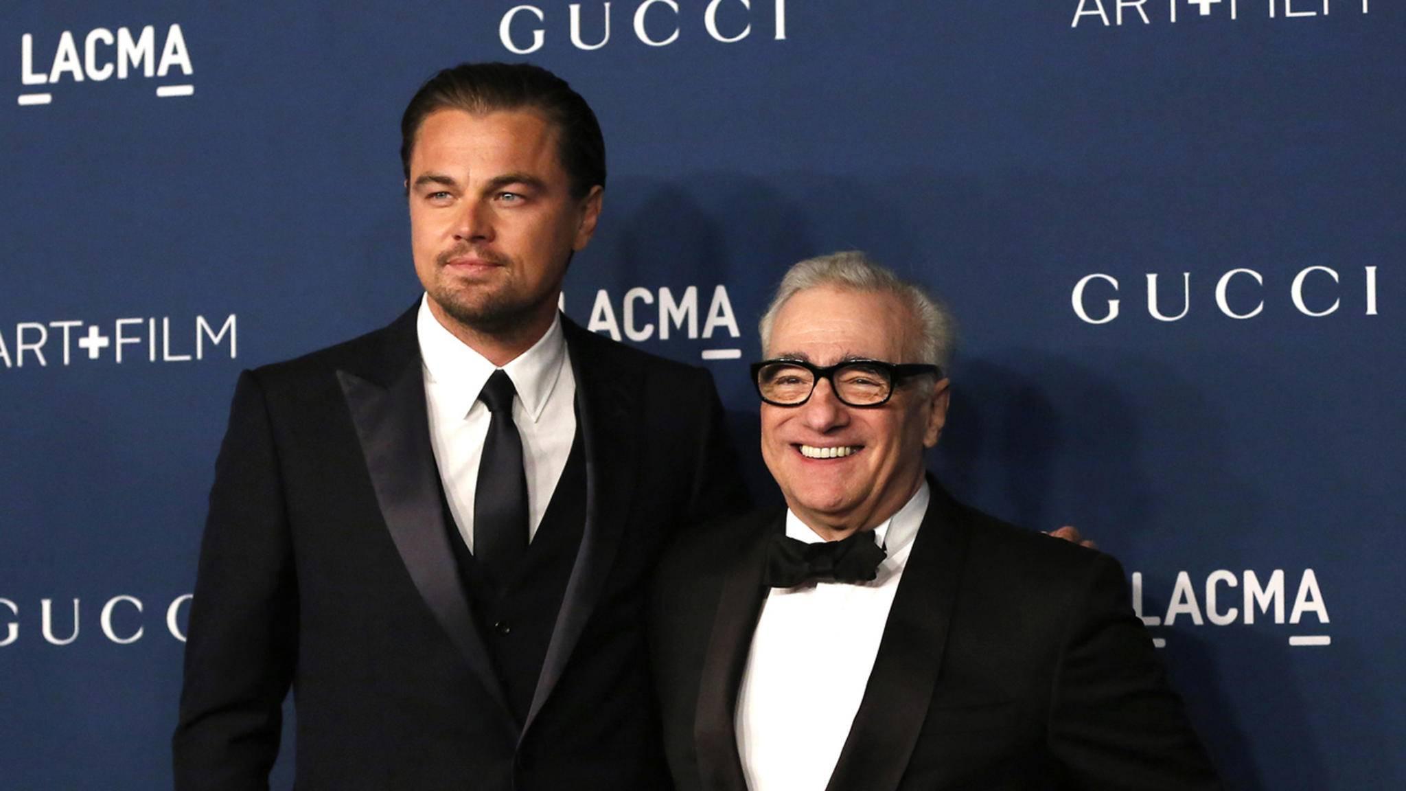 Erst nächstes Jahr gemeinsam am Drehort: Martin Scorsese und Leonardo DiCaprio.