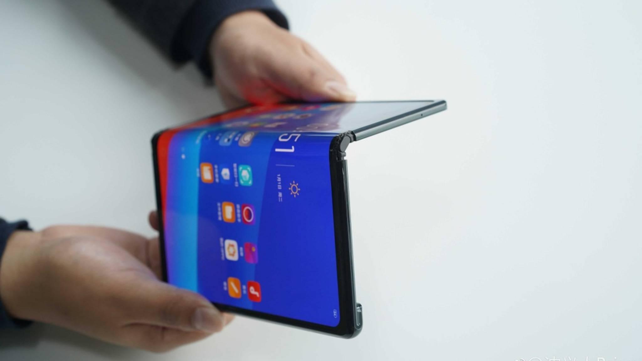 Oppos faltbares Smartphone hat große Ähnlichkeit mit dem Huawei Mate X.