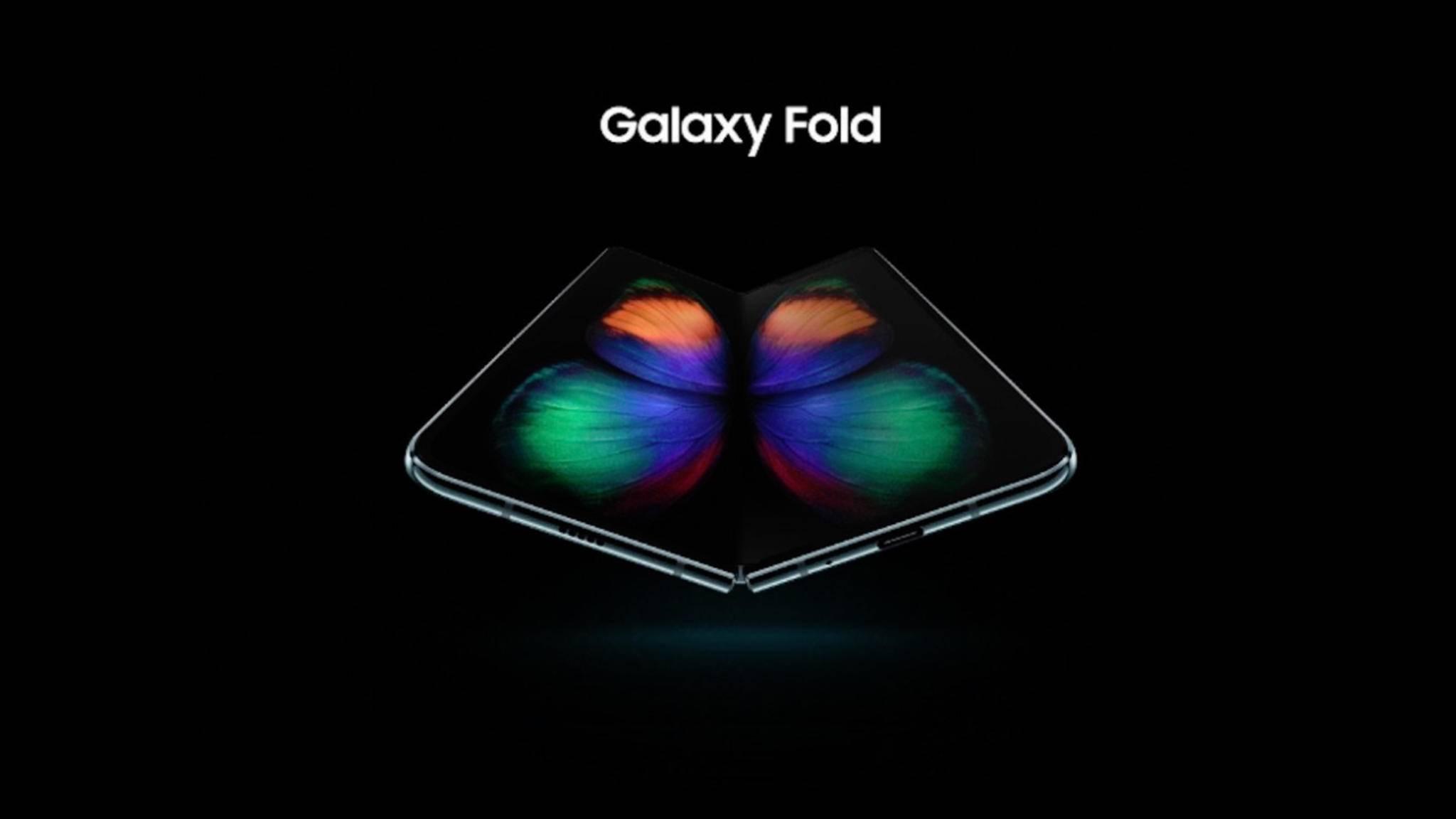Das Galaxy Fold hat einen faltbaren Screen.