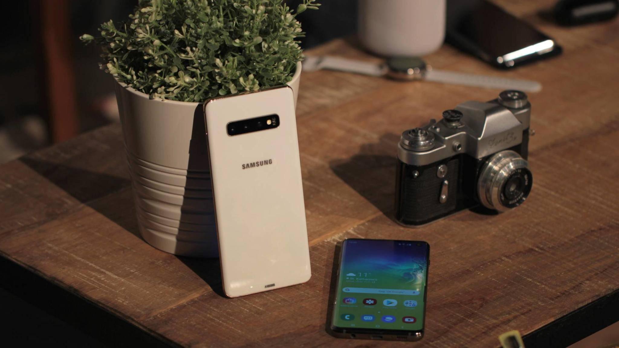 Die Nachfolger der Galaxy-S10-Serie (hier das Galaxy S10+) werden neue Kamera-Features bieten.