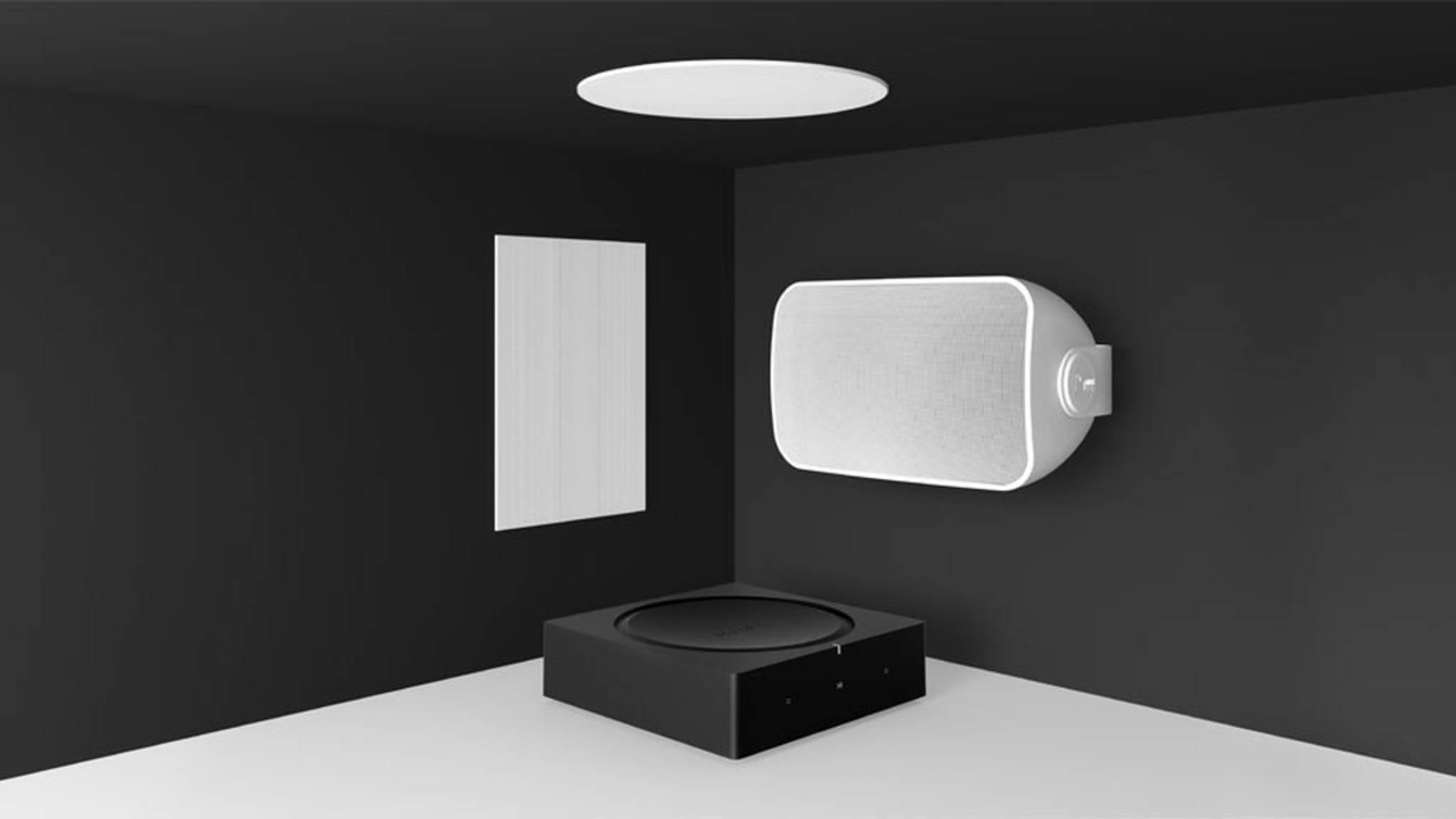 """Die """"Sonos Architectural by Sonance""""-Lautsprecher lassen sich ins oder ans Gebäude bauen."""