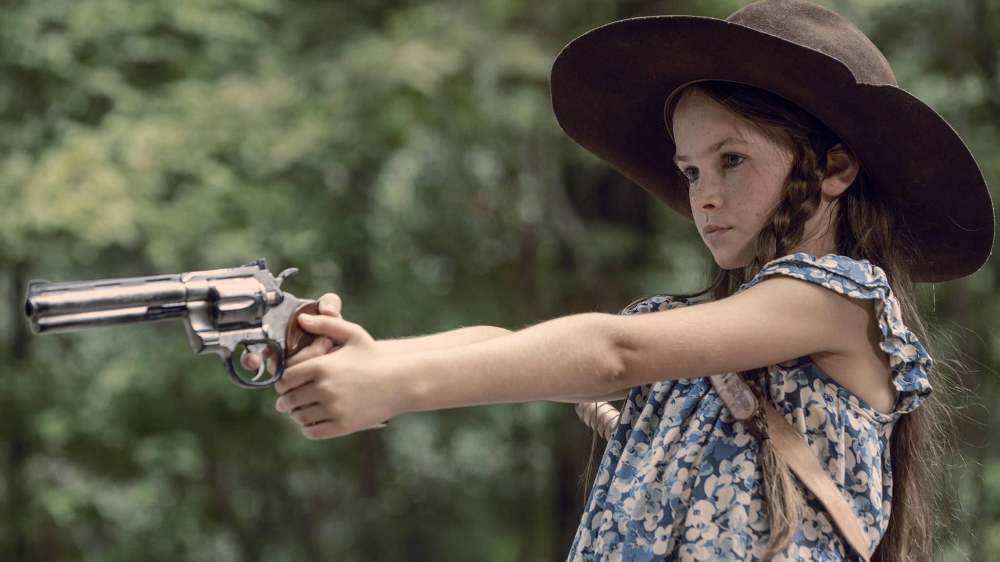 """Judith trifft am """"The Walking Dead""""-Set zu Staffel 10 auf alte Bekannte ..."""