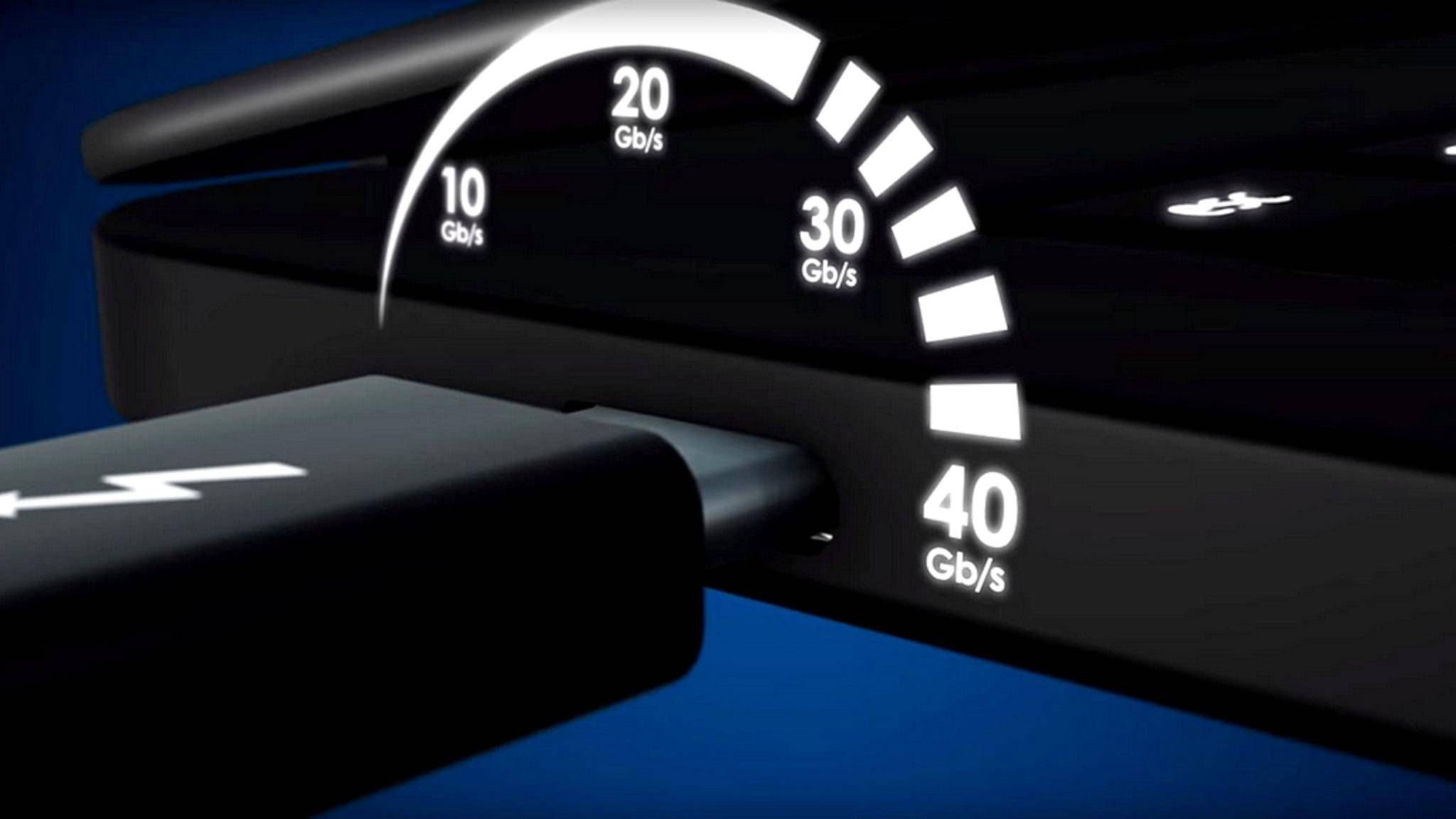USB 4 erreicht dieselbe Geschwindigkeit wie Thunderbolt 3 – bestenfalls.
