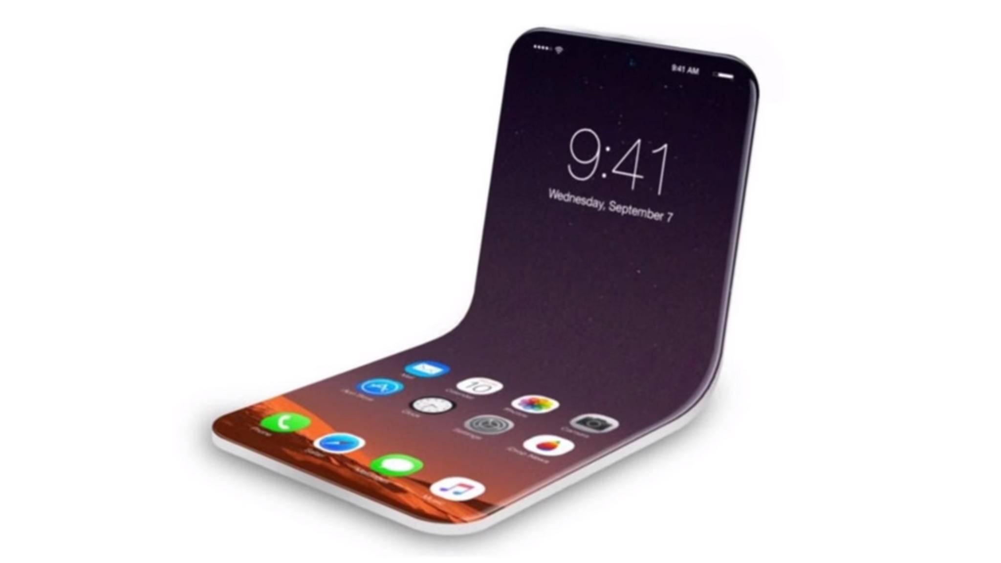 Es gibt diverse Konzepte für ein faltbares iPhone wie beispielsweise dieses Rendering.