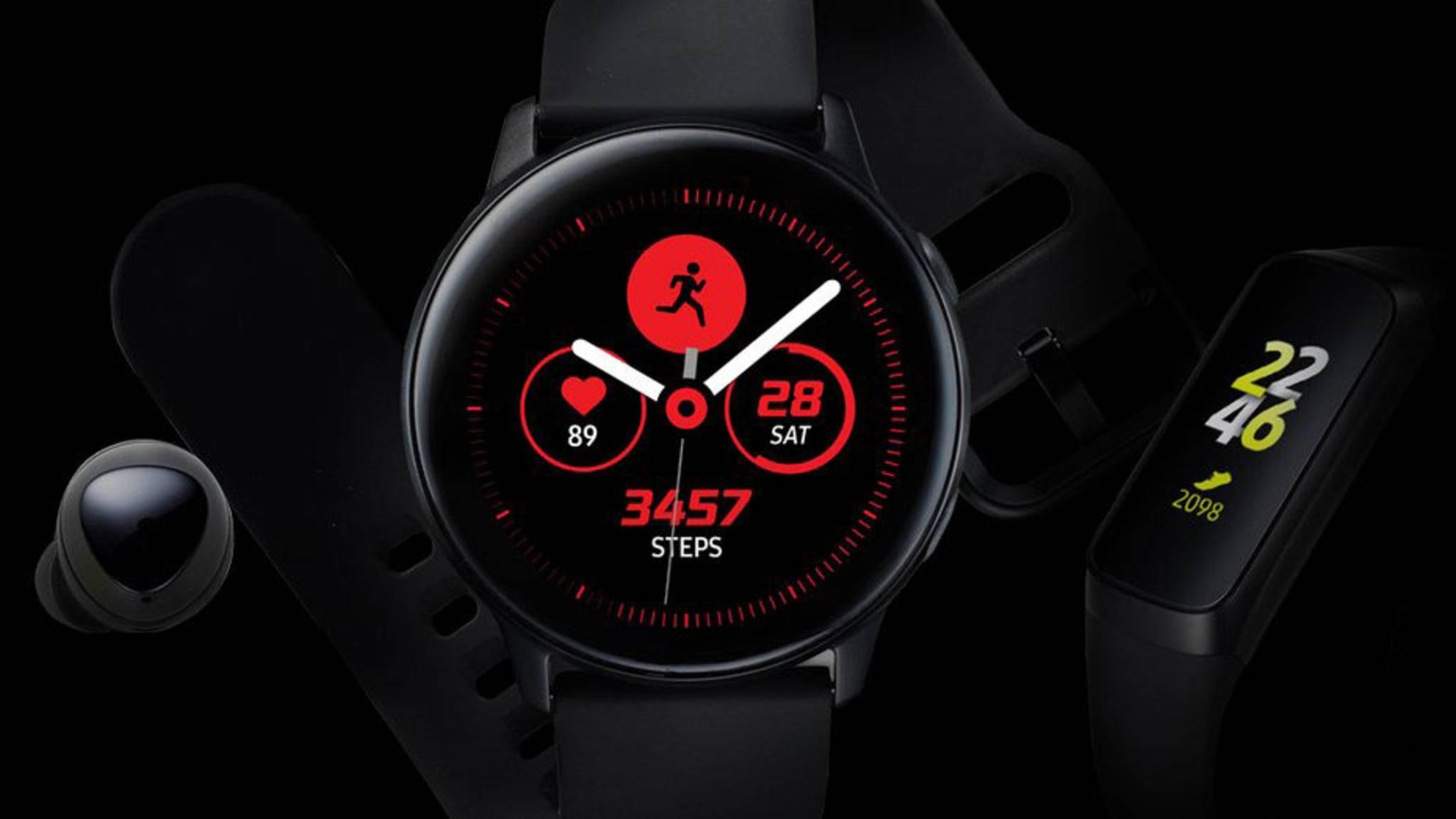 Schon Tage vor dem eigentlichen Launch zeigt sich unter anderem die Galaxy Watch Active in einem Leak.