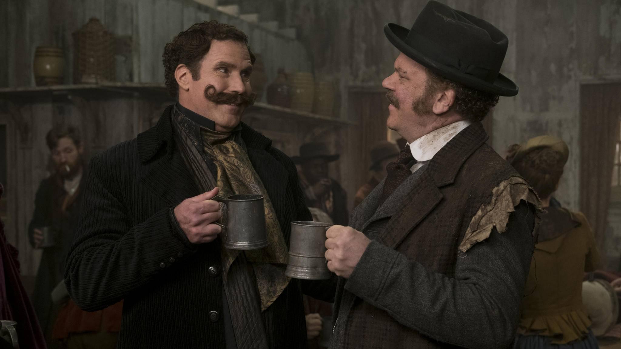 """Eigentlich (k)ein Grund zum Feiern: """"Holmes und Watson"""" heimste gleich vier Razzies ein."""