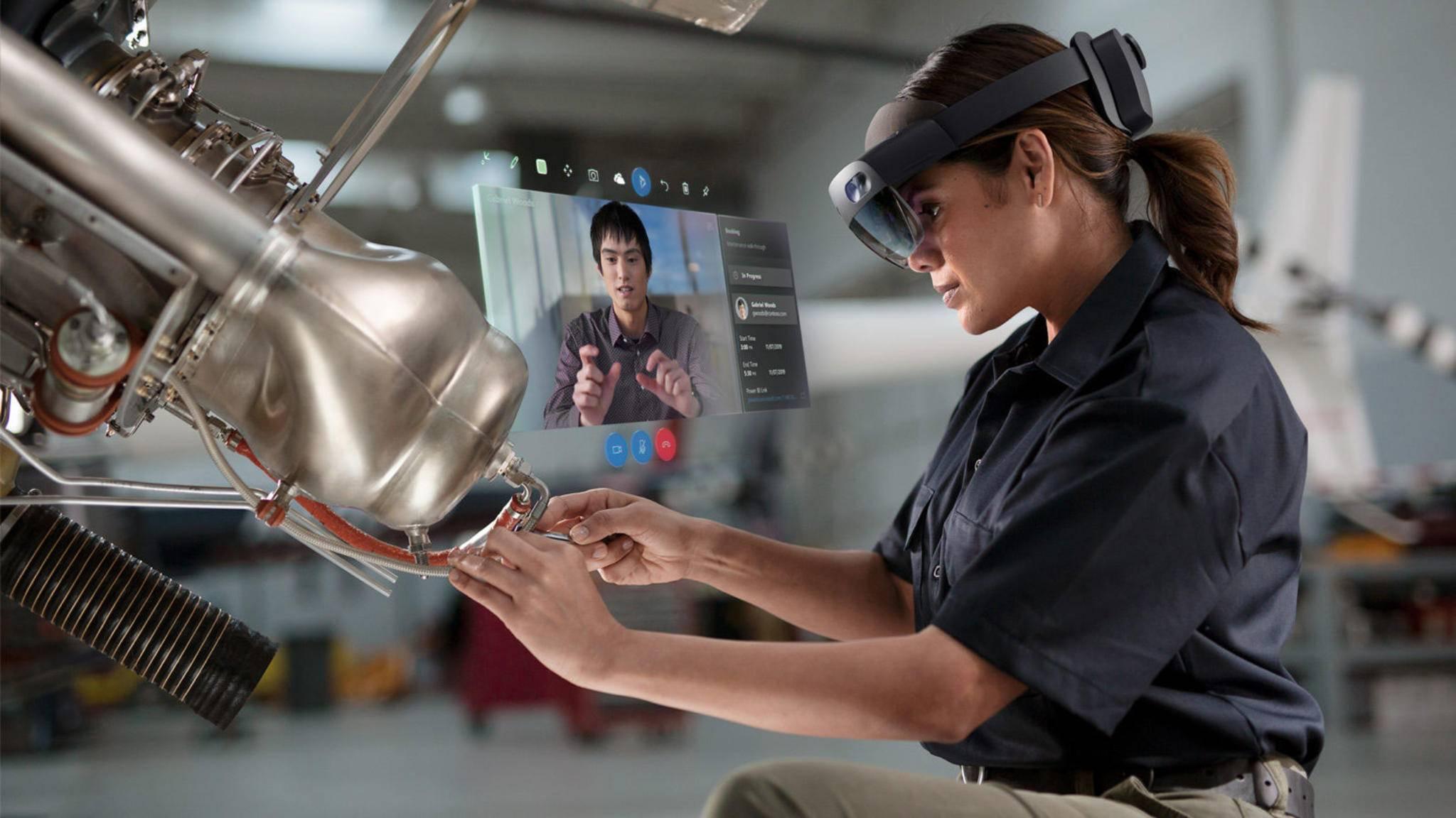 Die HoloLens 2 ist für professionelle Anwender vorgesehen.