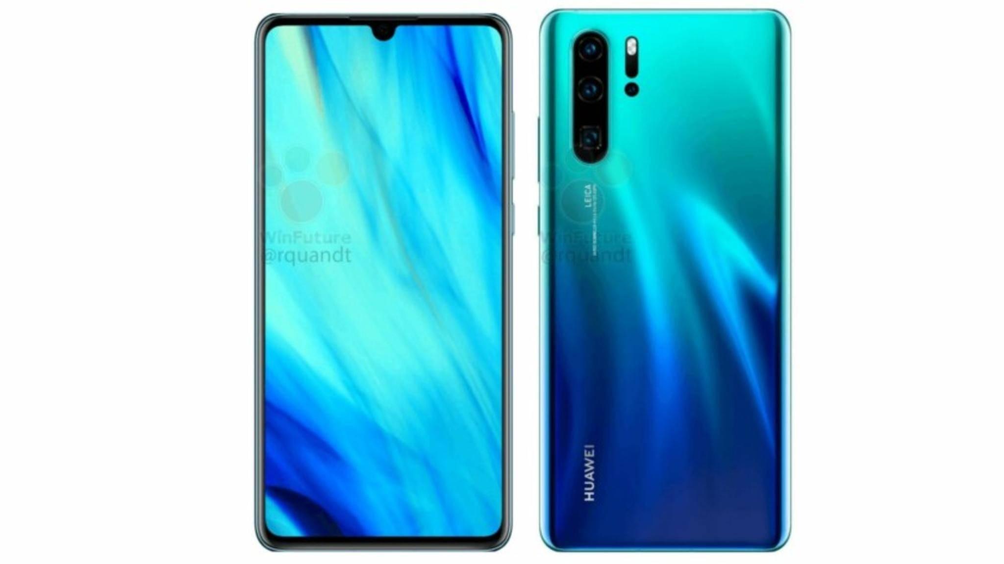 Das Huawei P30 und P30 Pro werden wohl in verschiedenen coolen Farbvarianten erhältlich sein.