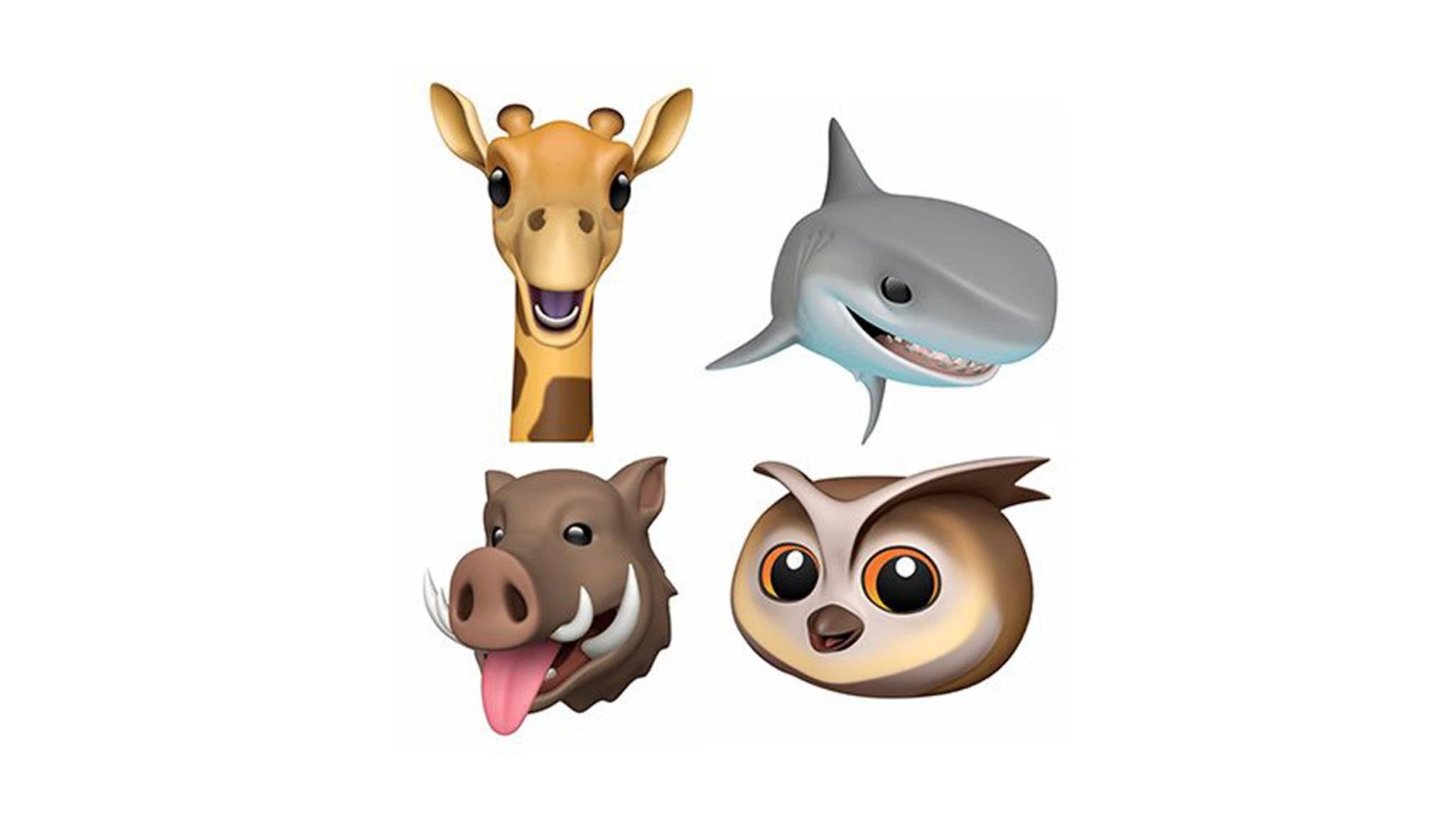 Giraffe, Wildschwein, Hai und Eule kommen in iOS 12.2 als neue Animojis hinzu.