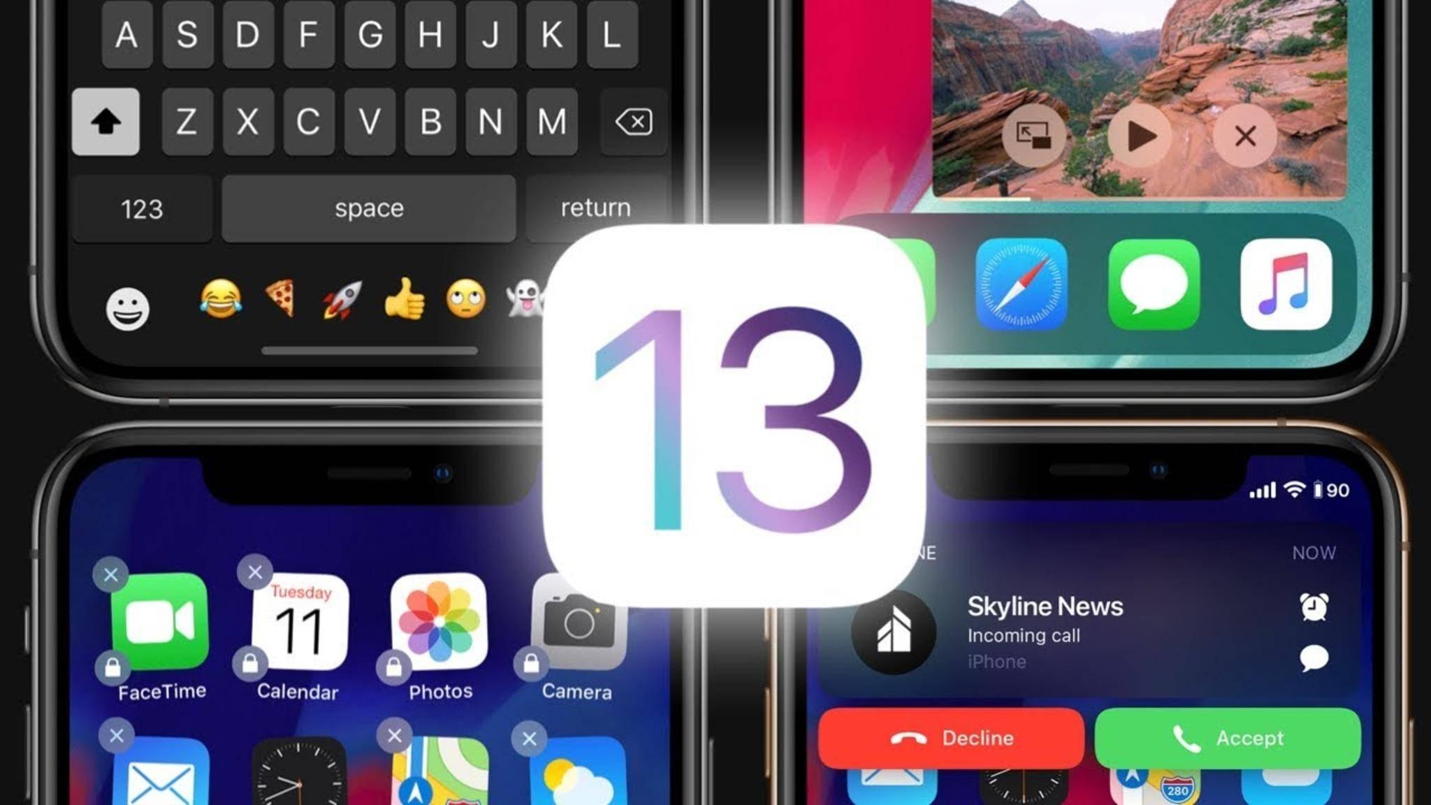 iOS 13 (Konzeptbild) soll endlich einen Dark Mode an Bord haben.