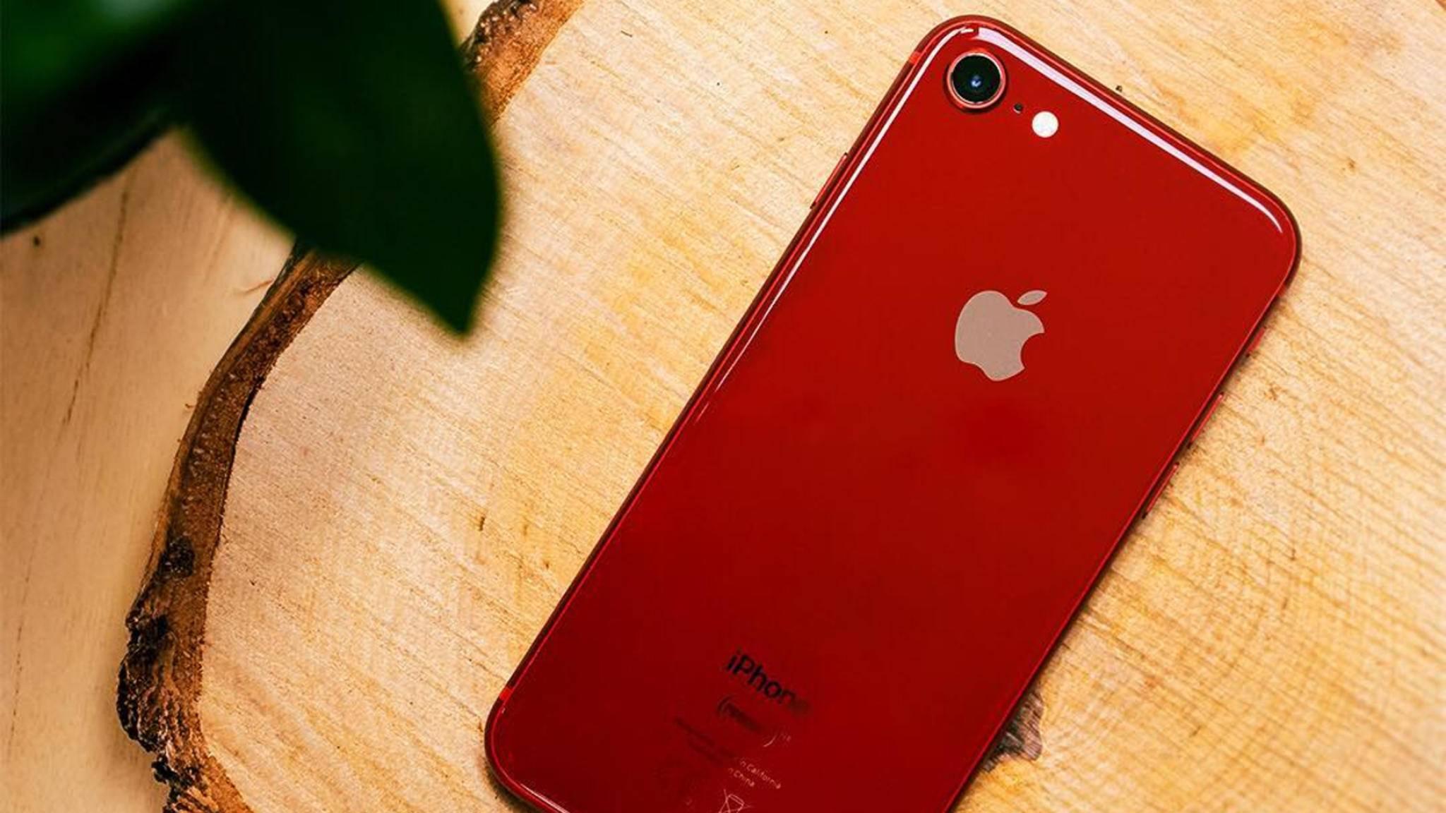 Das iPhone 8 in Rot erschien im April 2018.