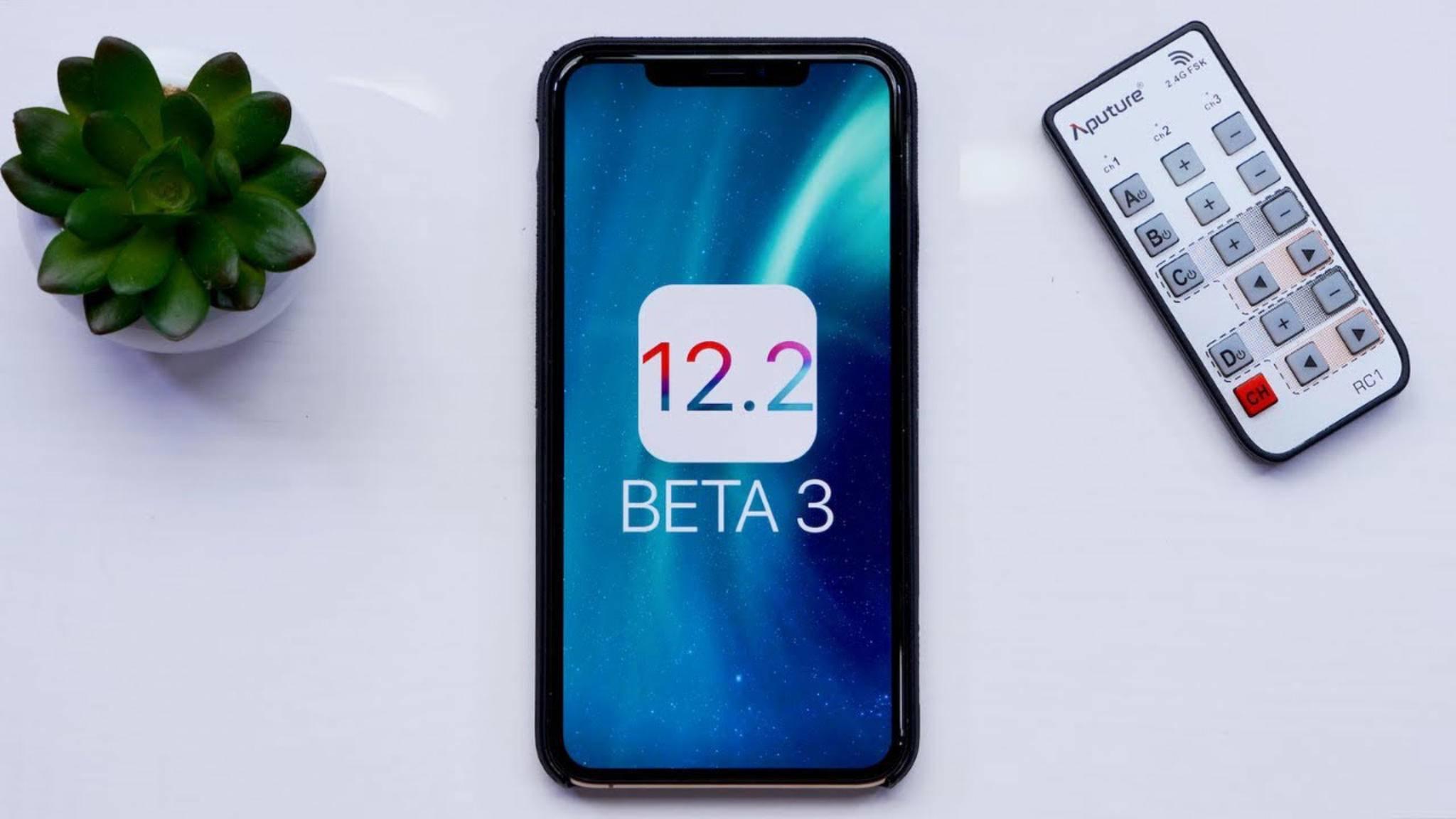 Die Beta 3 von iOS 12.2 wurde für Entwickler veröffentlicht.