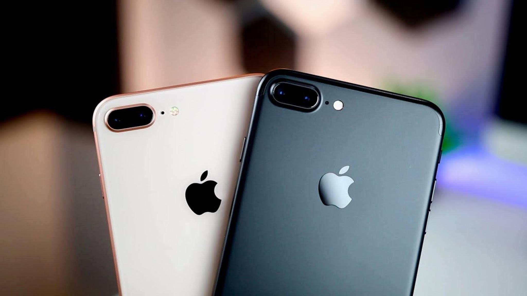 Werden jetzt ab sofort wieder in Deutschland verkauft: Das iPhone 7 (Plus) und das iPhone 8 (Plus).