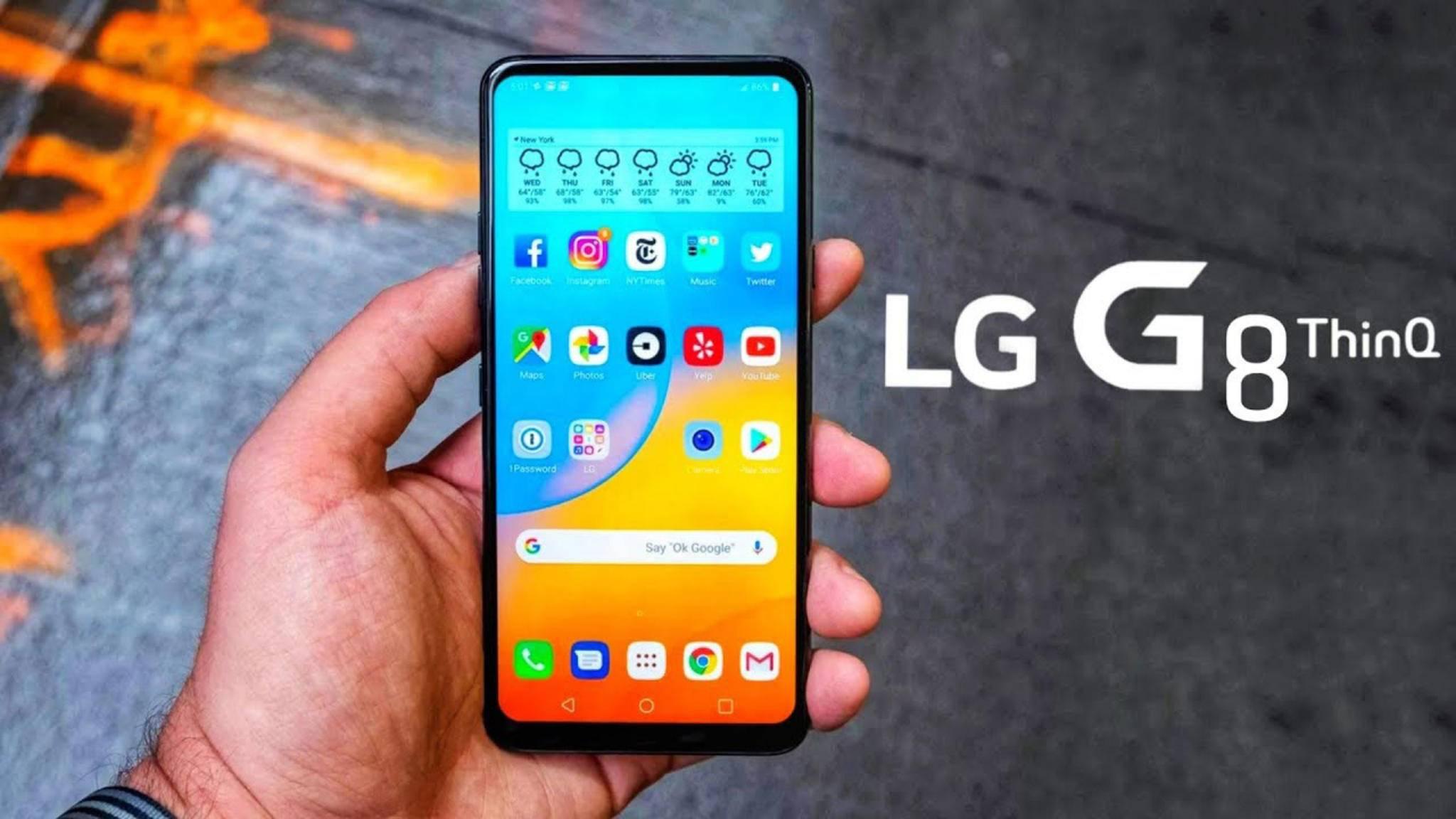 Das Display des LG G8 ThinQ soll ordentlich vibrieren und somit als Lautsprecher fungieren.