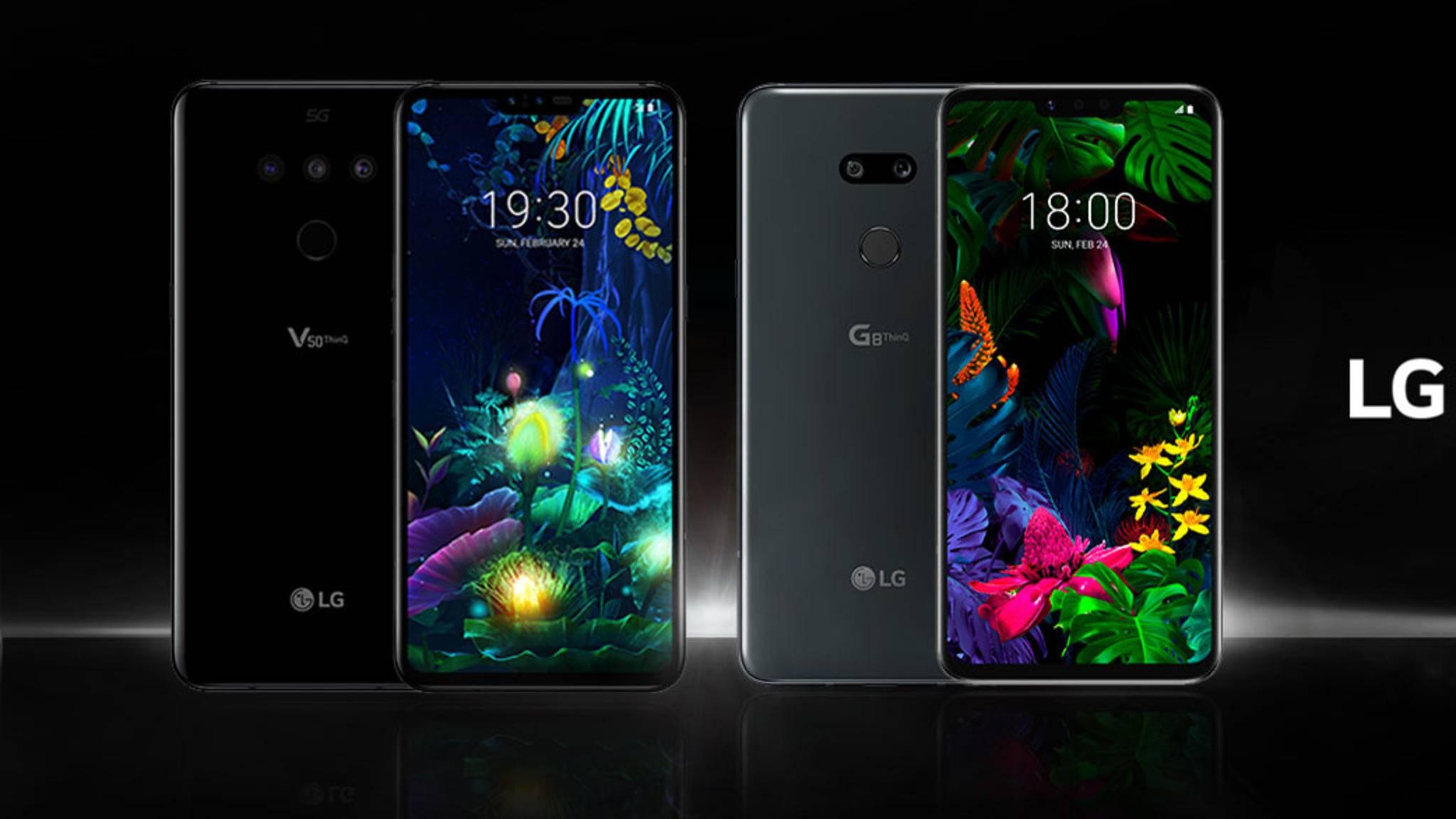 Das LG G8 ThinQ und das LG V50 ThinQ sind sich auf den ersten Blick ziemlich ähnlich – doch einige Unterschiede gibt es dennoch.