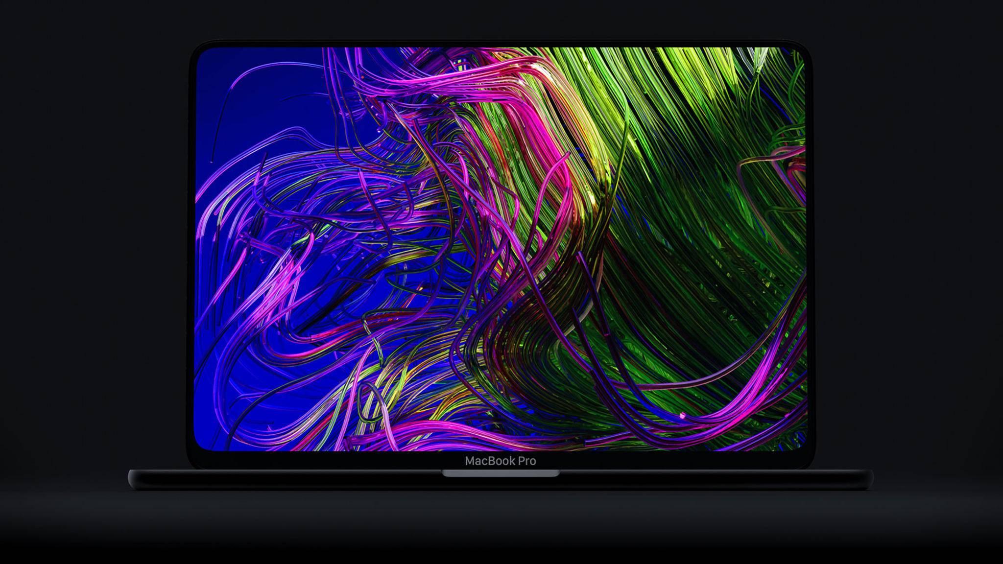 Deutlich schmalere Displayränder: So stellt sich ein Designer das neue MacBook Pro 2019 vor.