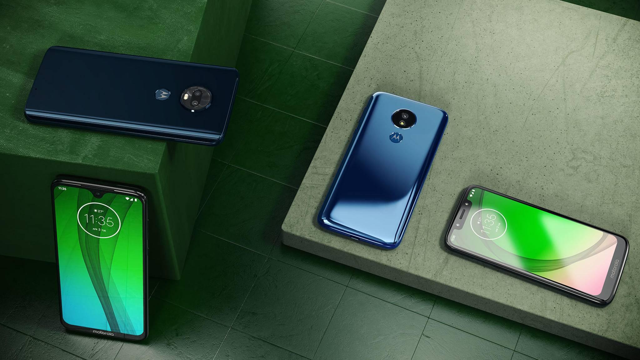 Motorola hat gleich vier neue Moto-G7-Smartphones präsentiert.