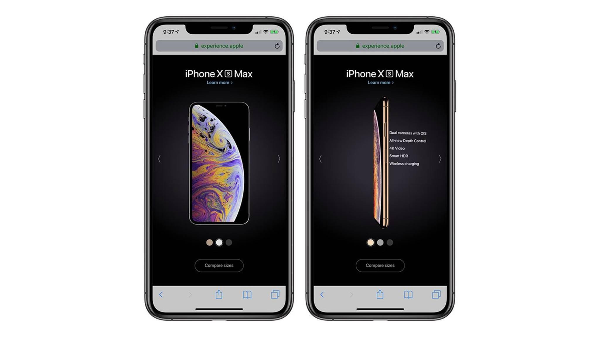Einige Websites wie die iPhone Experience Site erfordern den Zugriff auf Smartphone-Sensoren.