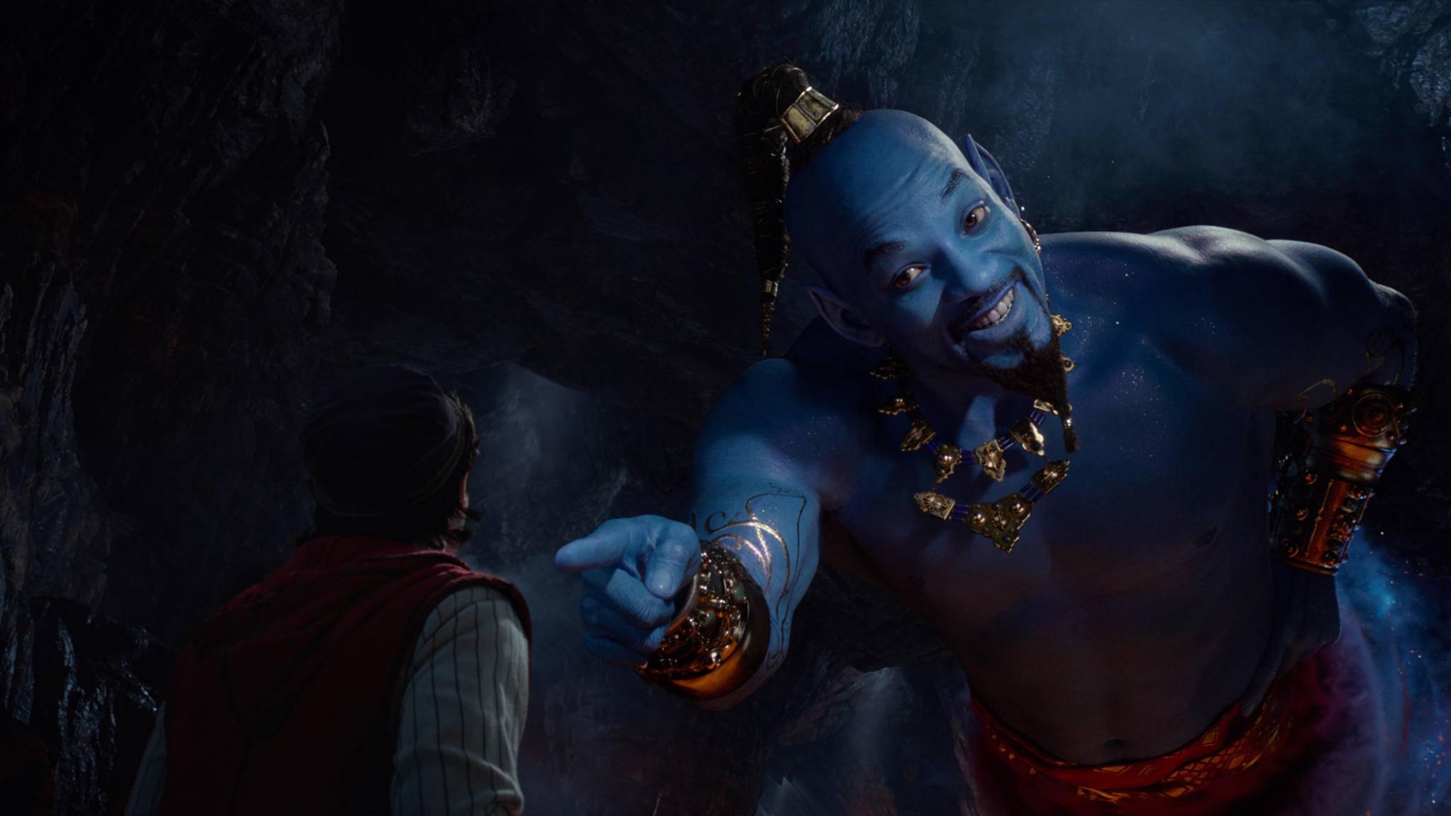 Will Smith lockt als blauer Dschinni die Massen ins Kino.