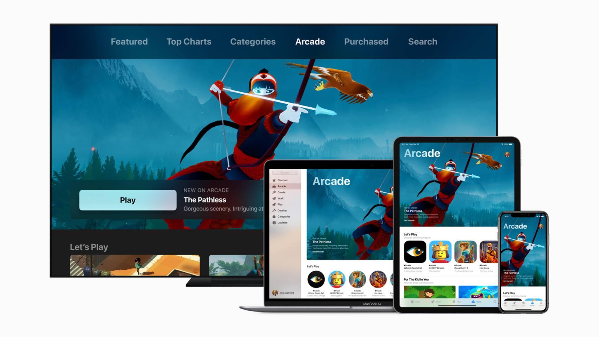 Exklusive Spiele für Abonnenten: Apple Arcade geht im Herbst an den Start.