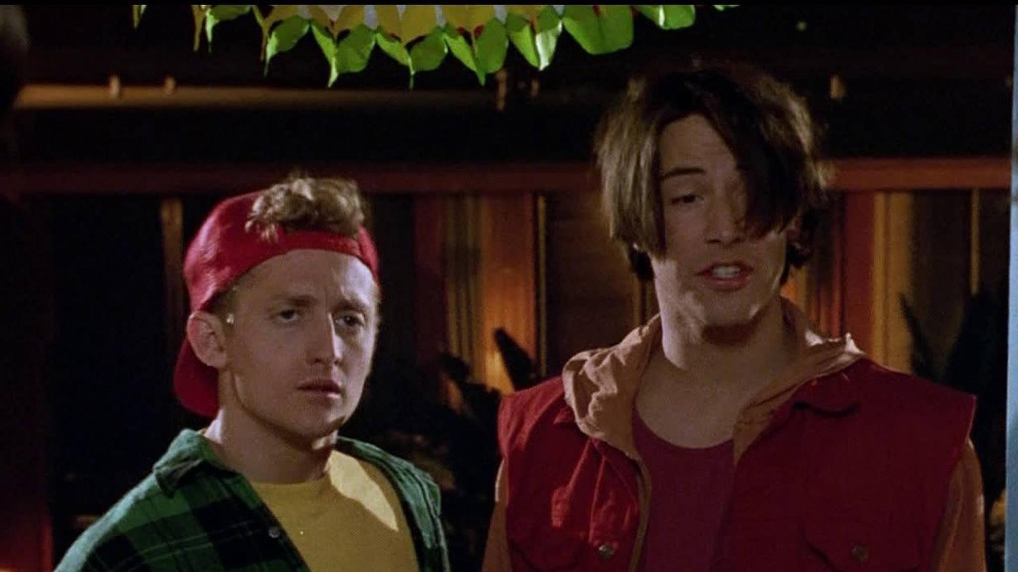 Auf in ein neues Abenteuer: Bill (Alex Winter) und Ted (Keanu Reeves) reisen bald wieder durch die Zeit.