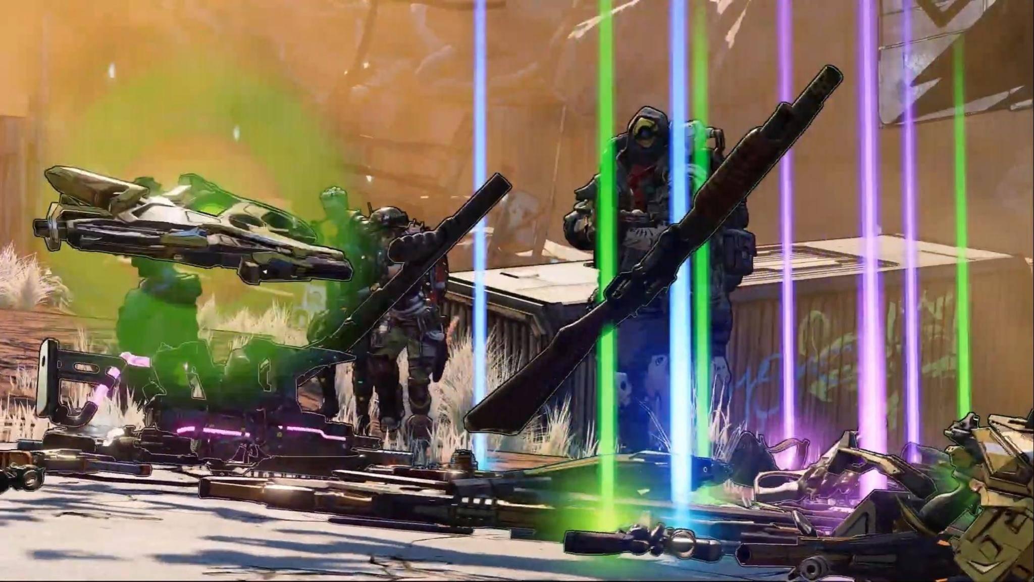 """It's raining weapons! In """"Borderlands 3"""" werden wir wieder zu schlimmen Waffen-Messis."""