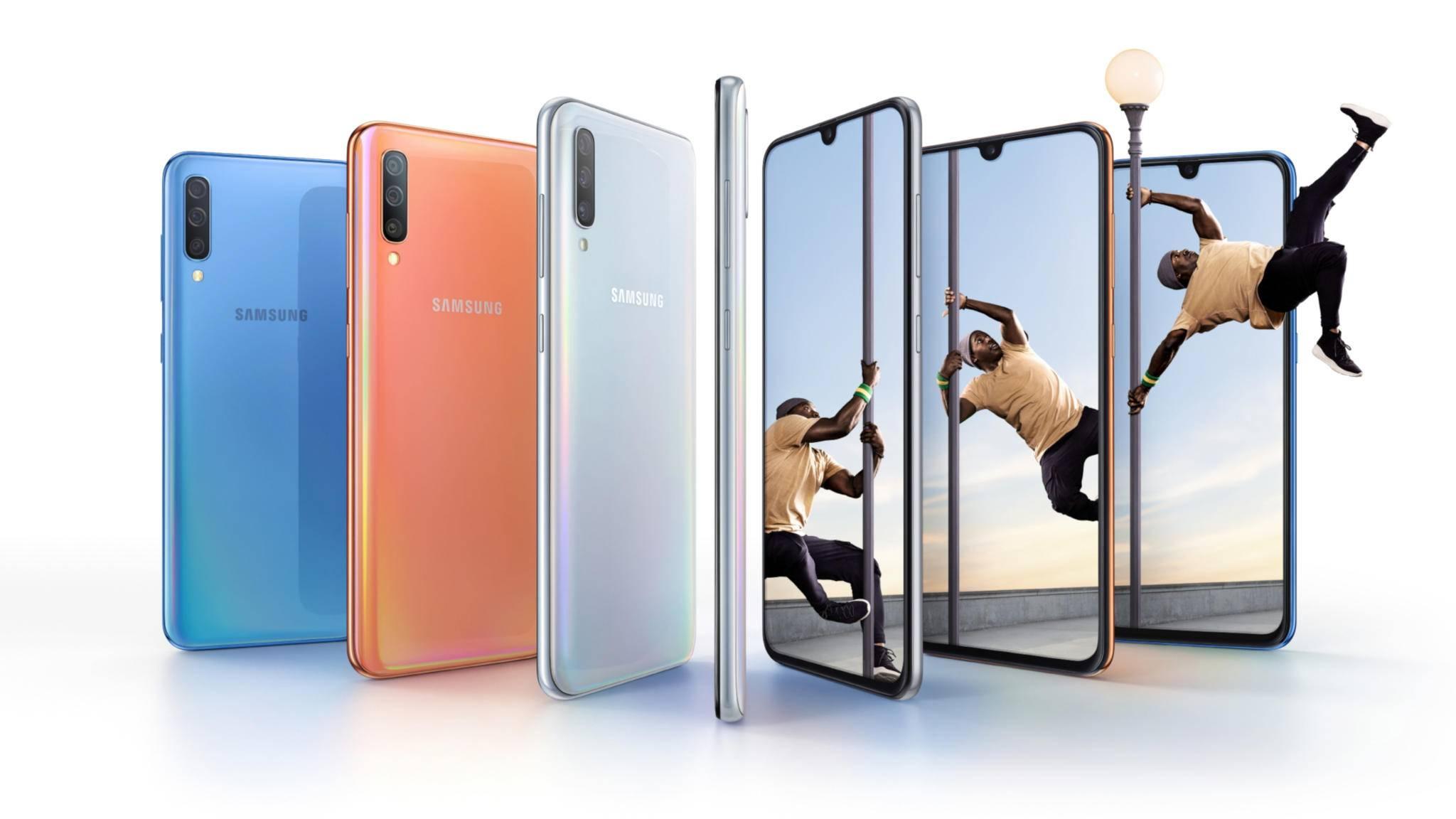 Das Samsung Galaxy A70 hat die bisher beste Selfie-Kamera der gesamten Galaxy-Reihe.