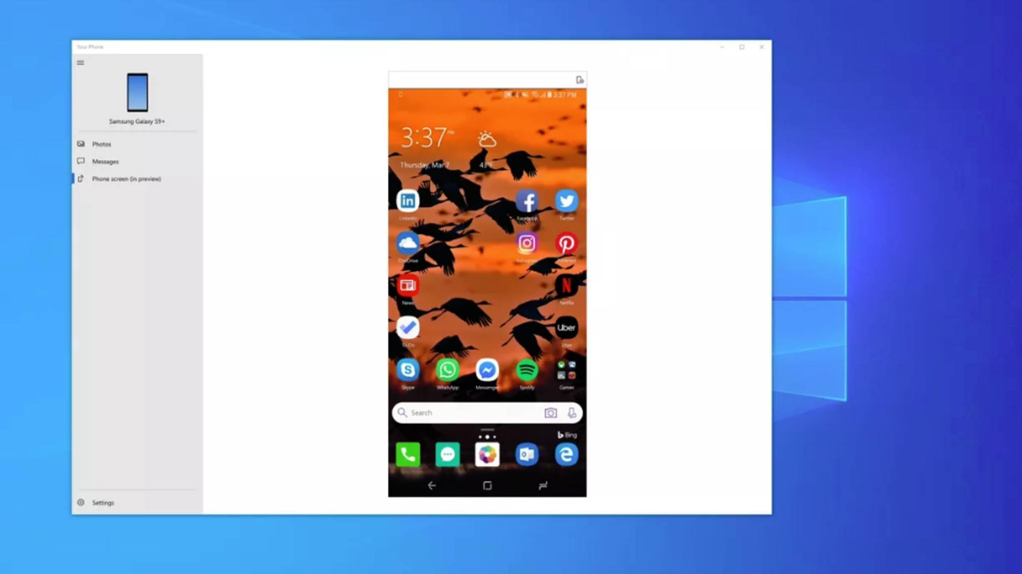 Microsoft testet gerade die Spiegelung von Android-Smartphones auf dem PC.