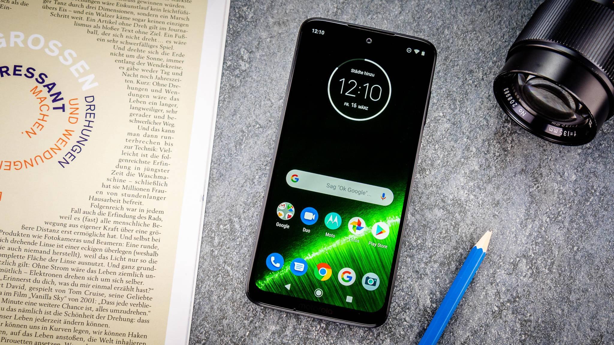 Gelungenes Mittelklasse-Smartphone: das Moto G7.