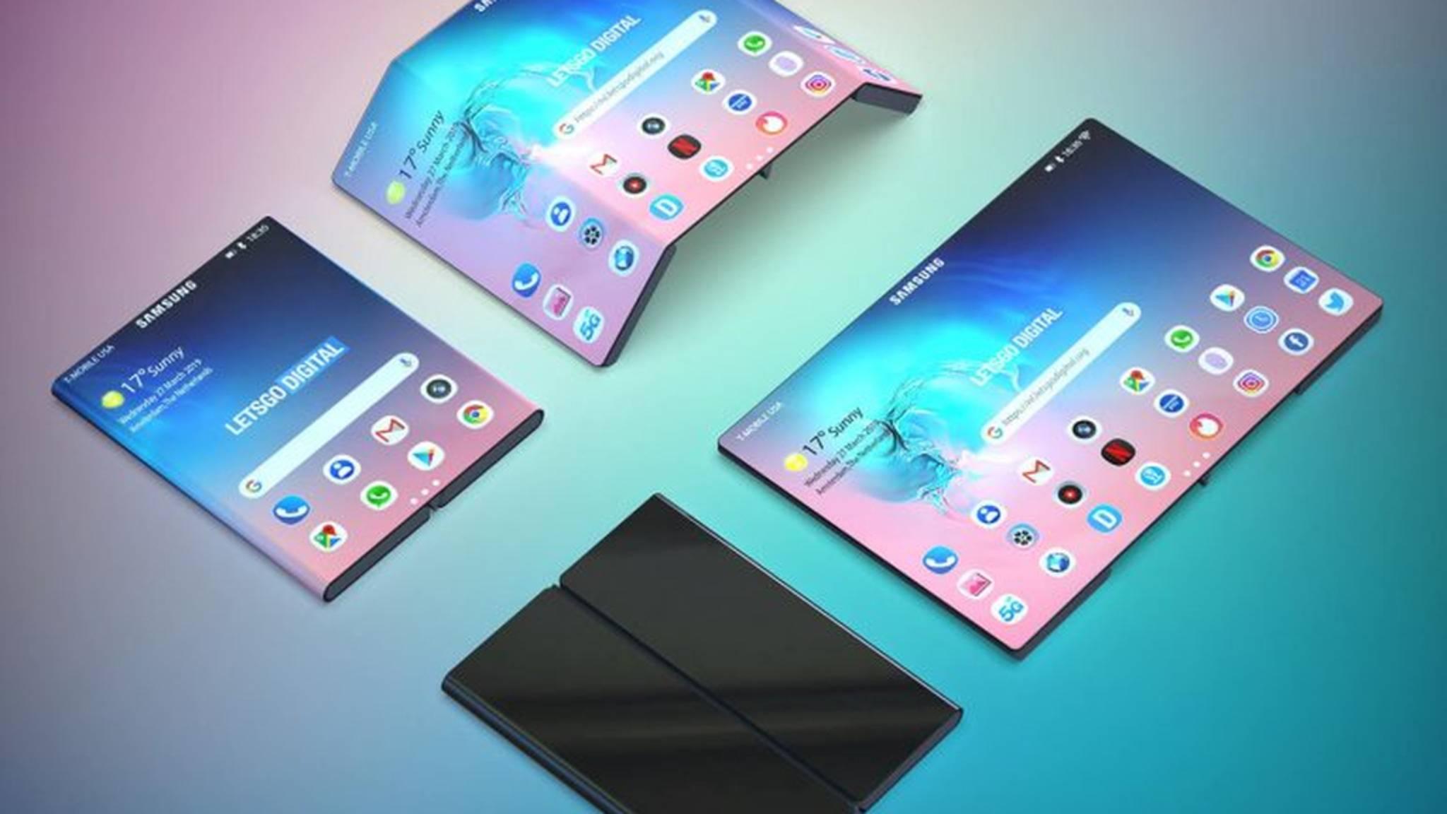 Samsung hat ein neues faltbares Gerät patentieren lassen.