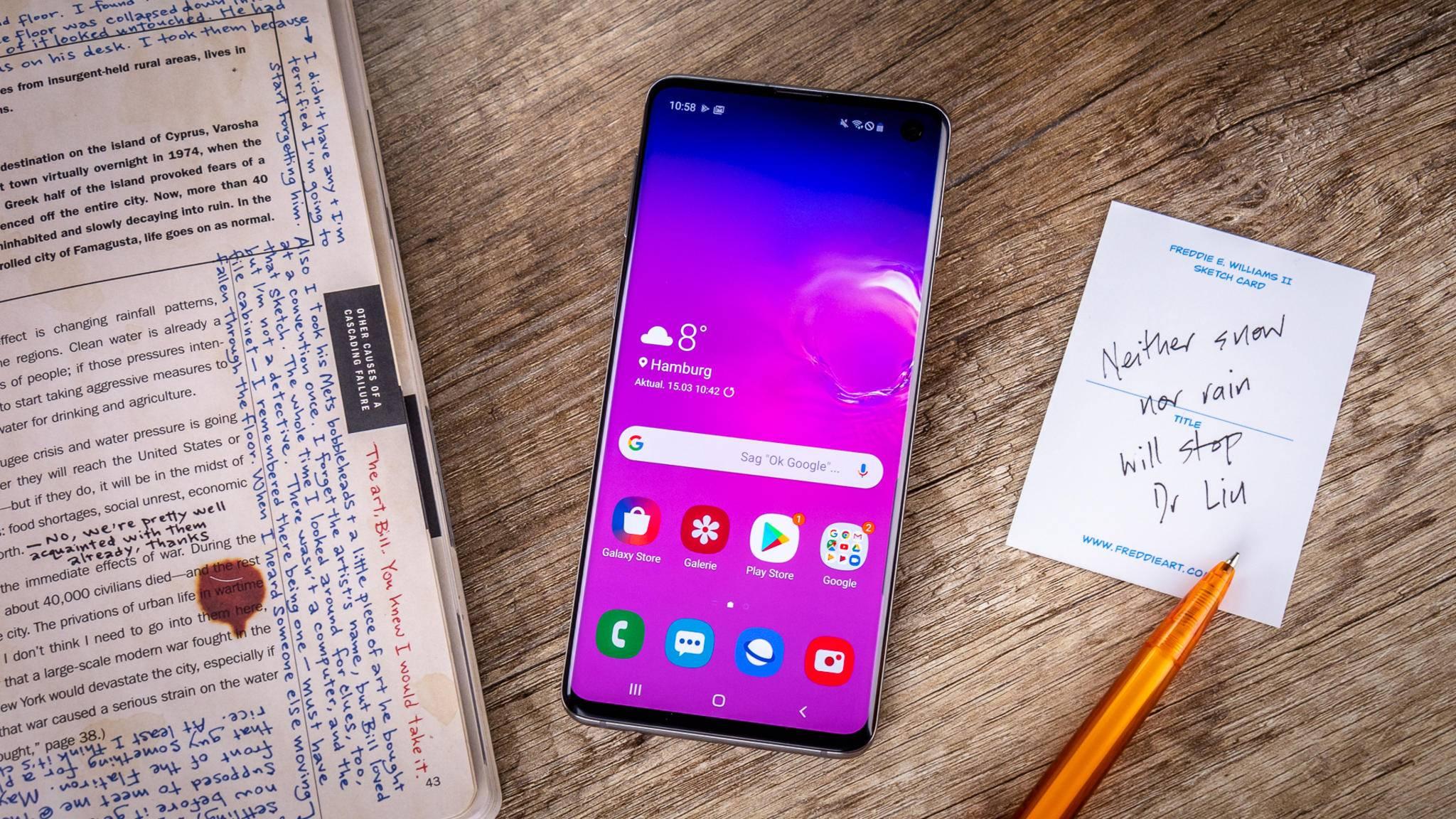 Die Smartphones der Galaxy-S10-Reihe müssen vielleicht nicht mehr lange auf Android 10 warten.