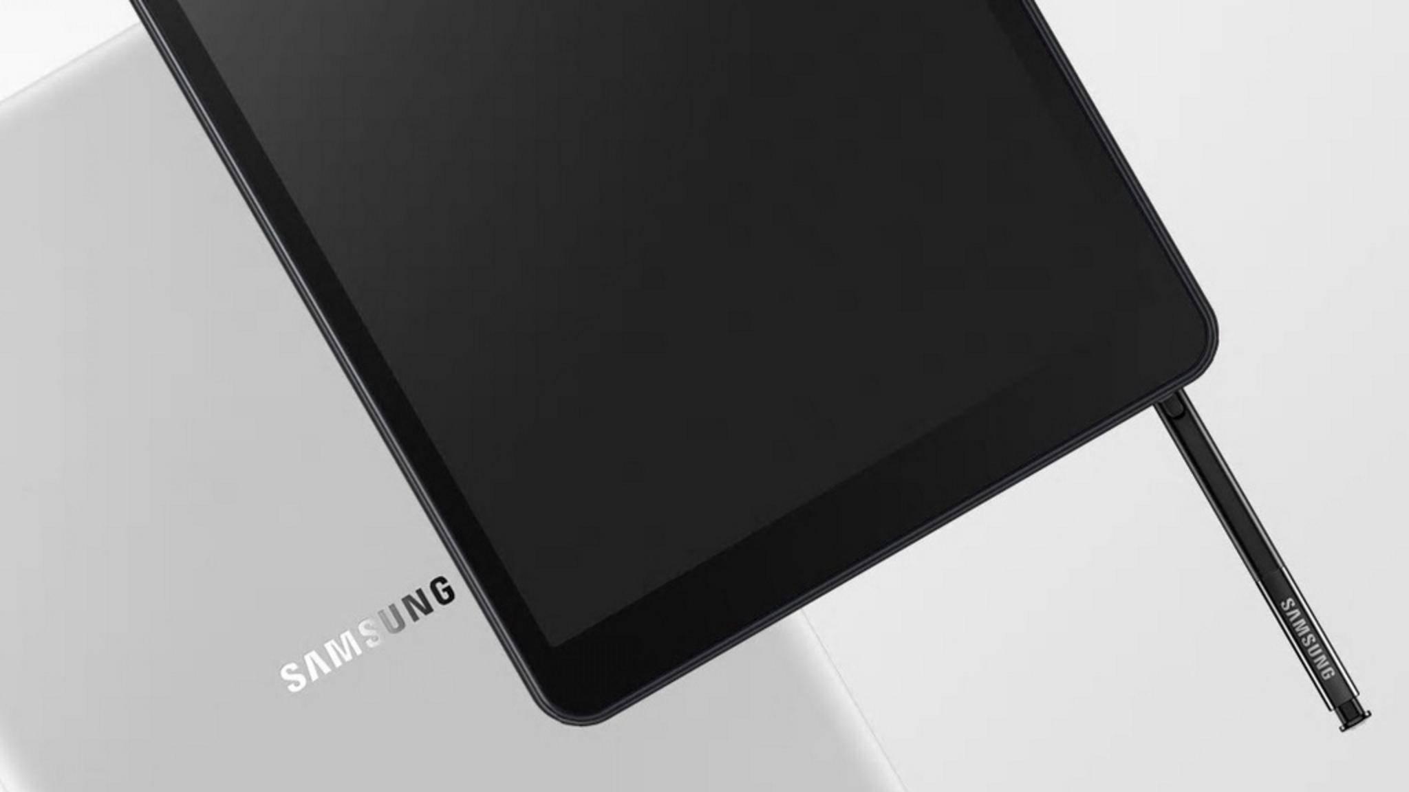Eines der ersten Bilder, das angeblich das Galaxy Tab A Plus (2019) zeigt.