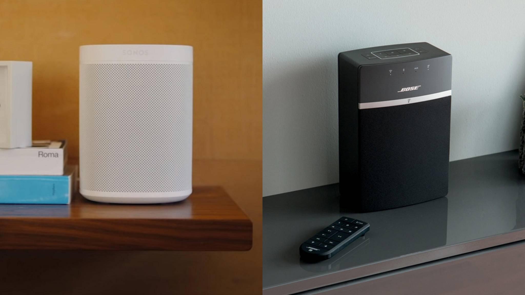 Sonos und Bose haben vergleichbare Multiroom-Systeme im Angebot.