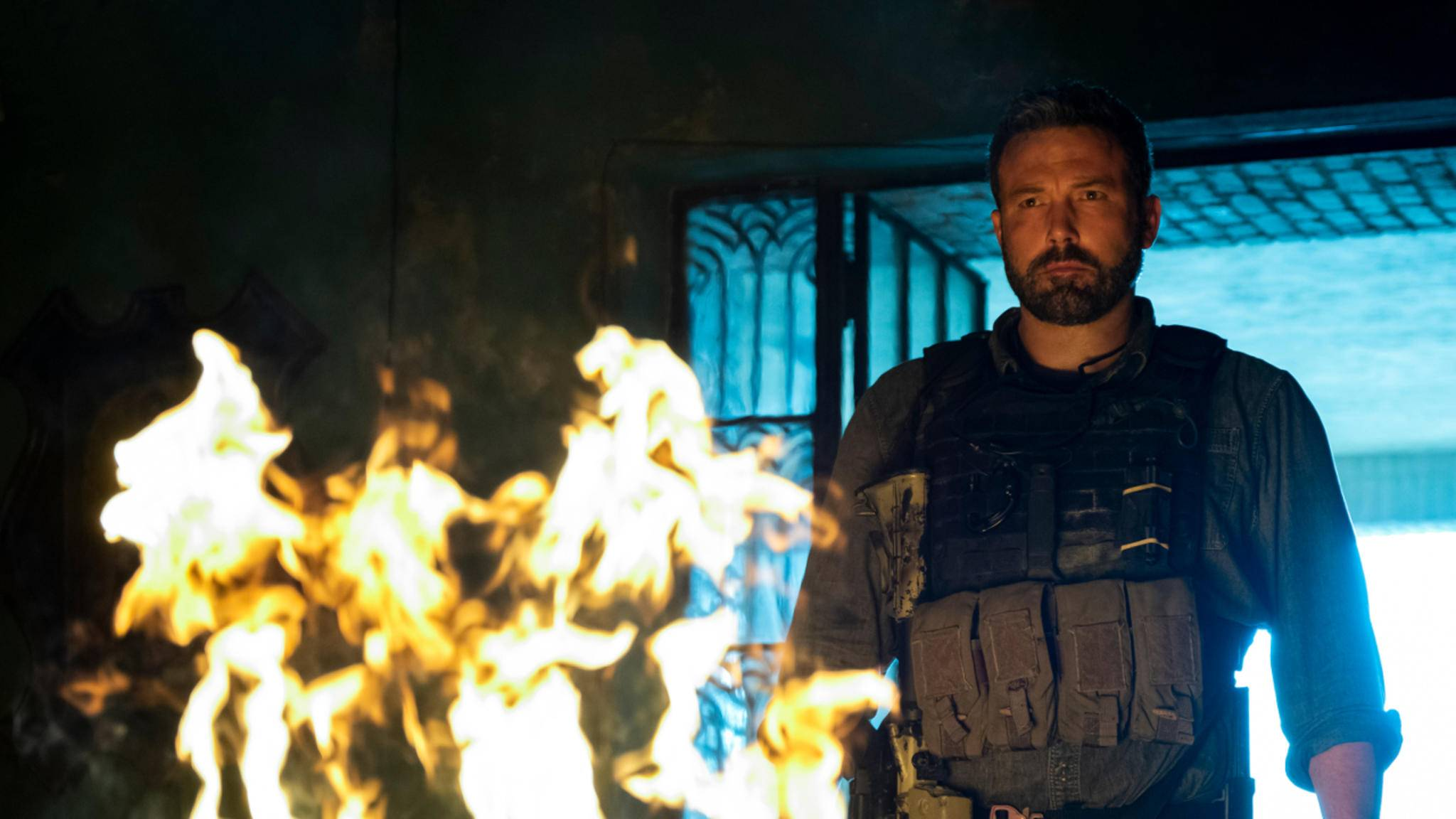 """Ben Affleck als gealterter Ex-Soldat in """"Triple Frontier""""."""