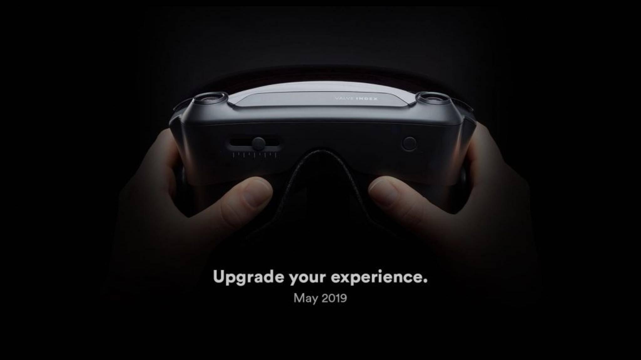 Dieses Bild soll die VR-Brille Valve Index zeigen.