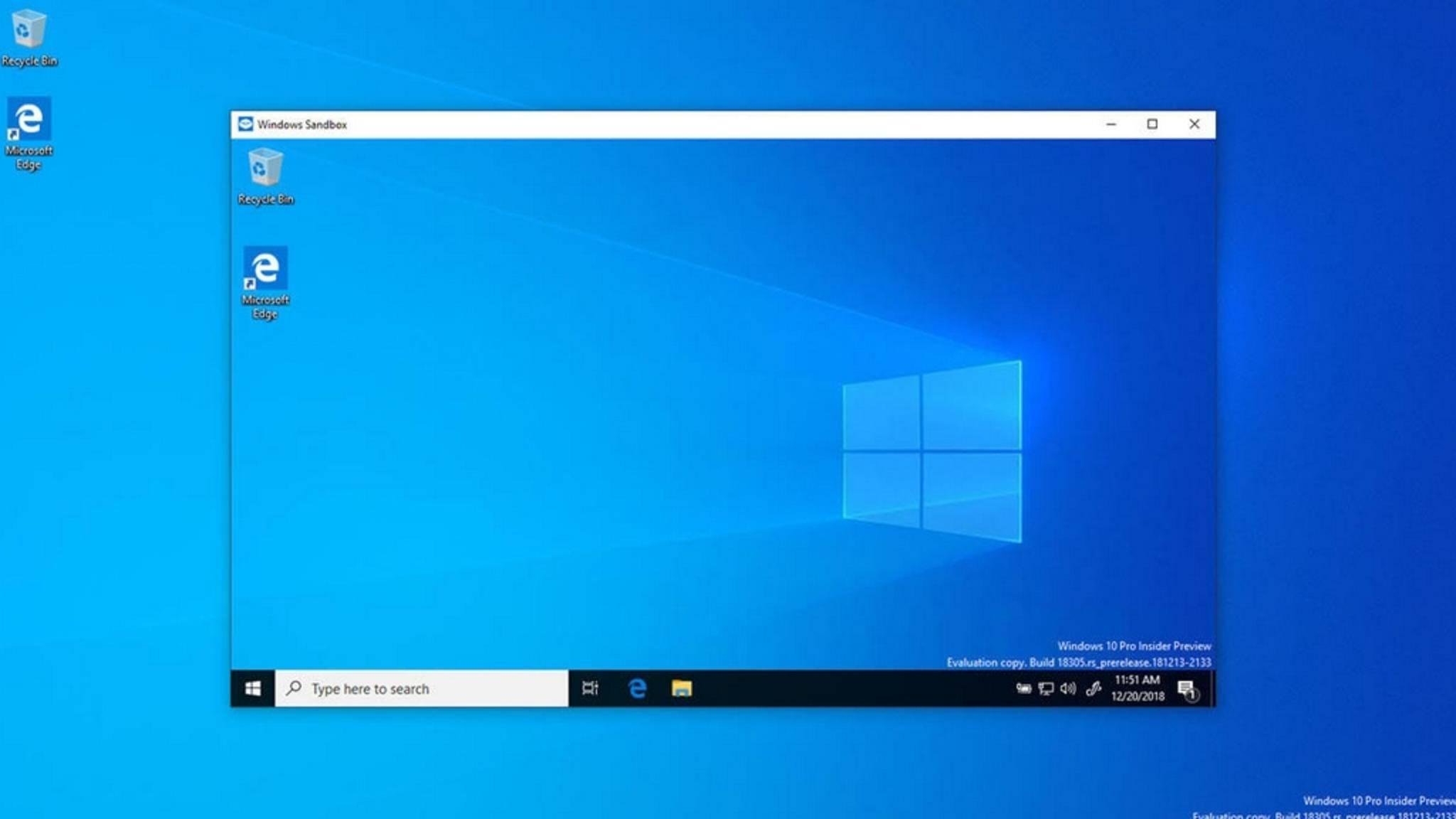 Die Windows Sandbox erlaubt es, Programme in sicherer und isolierter Umgebung auszuführen.