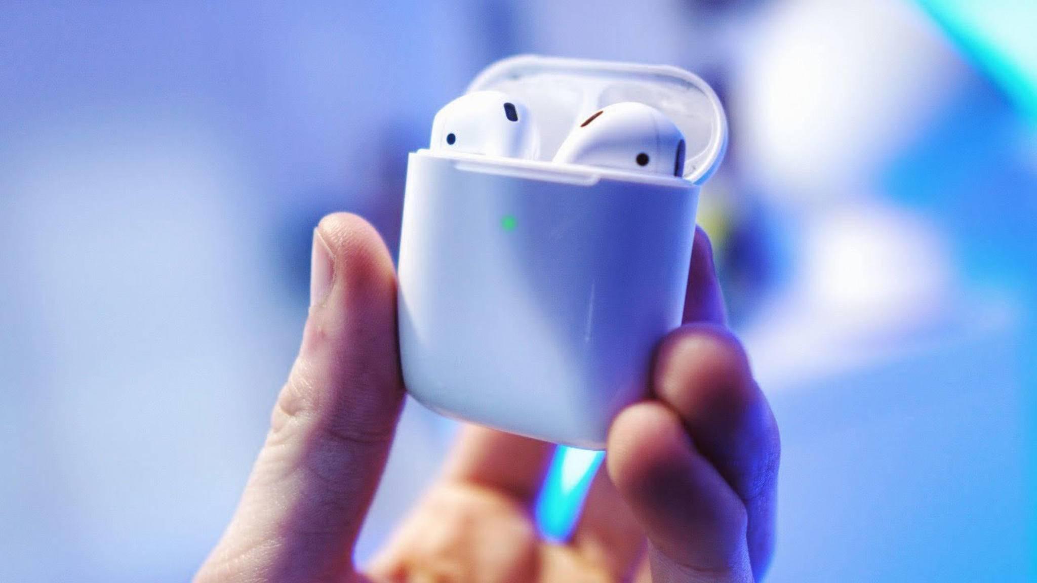 Erscheinen womöglich bald als wasserdichte Variante: die Apple AirPods.