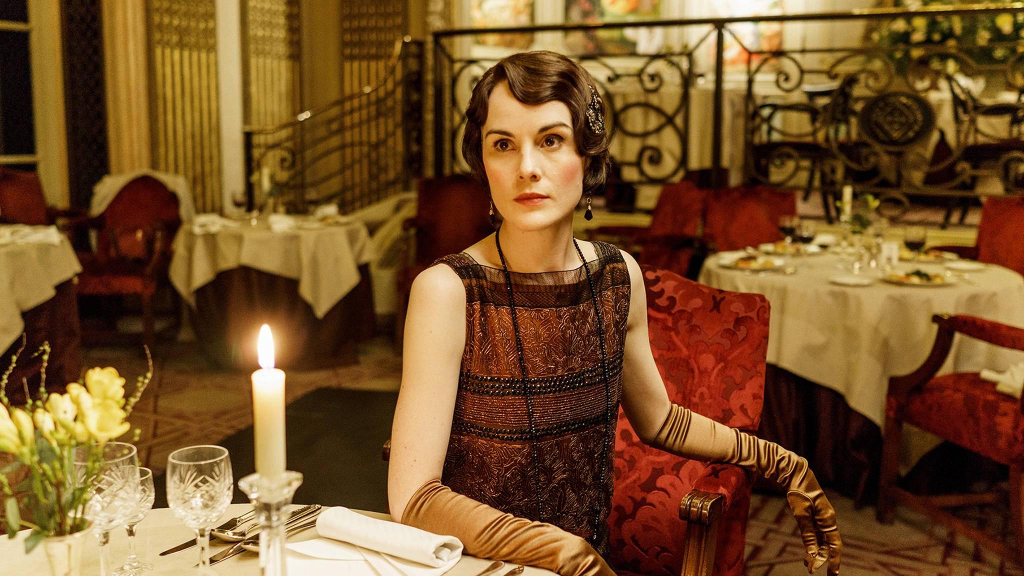 """Auch Lady Mary (Michelle Dockery) wirft sich für den """"Downton""""-Abbey Film wieder in Schale."""