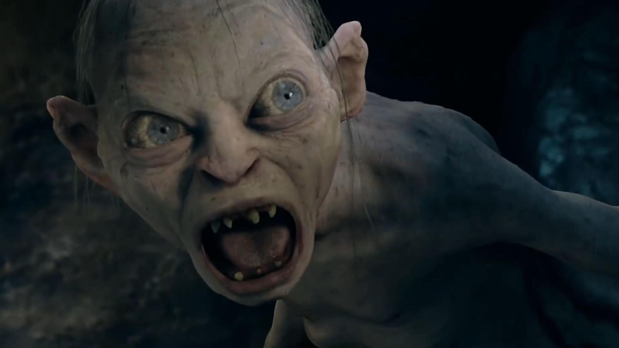 """So kennen wir ihn: Gollum in voller CGI-Pracht aus den """"Herr der Ringe""""-Filmen."""