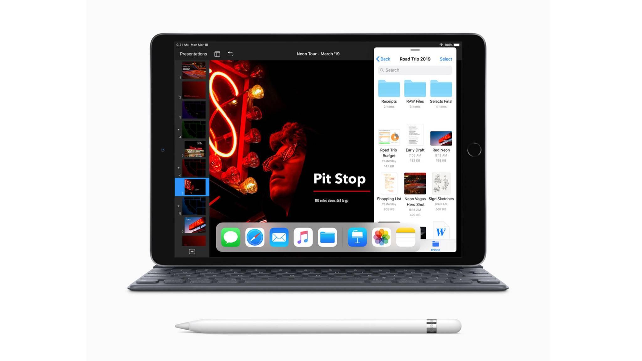 Das iPad Air (2019) unterstützt den Apple Pencil und das Smart Keybord.
