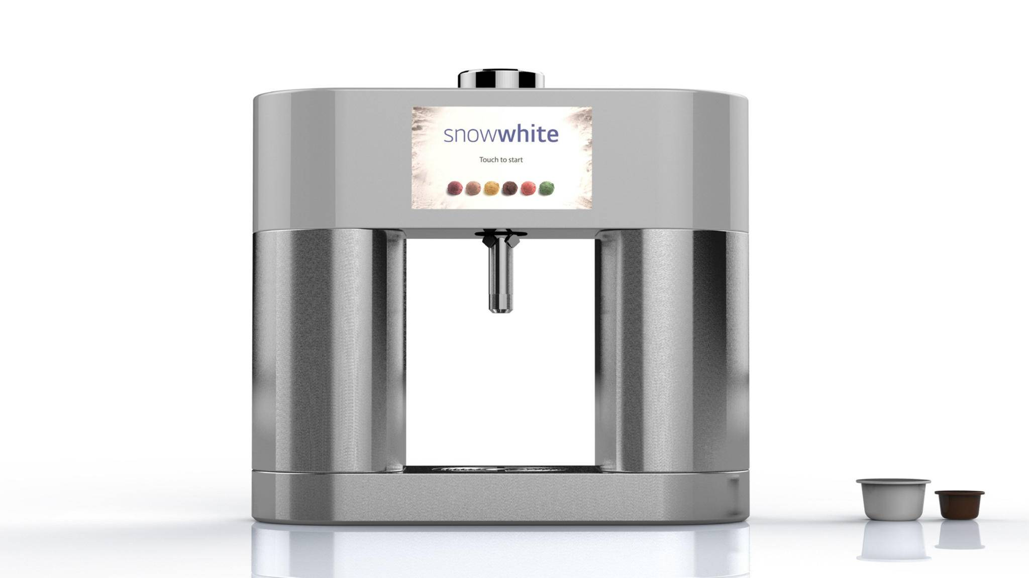 Frische Eiscreme aus der Kapselmaschine verspricht LGs Snowwhite.