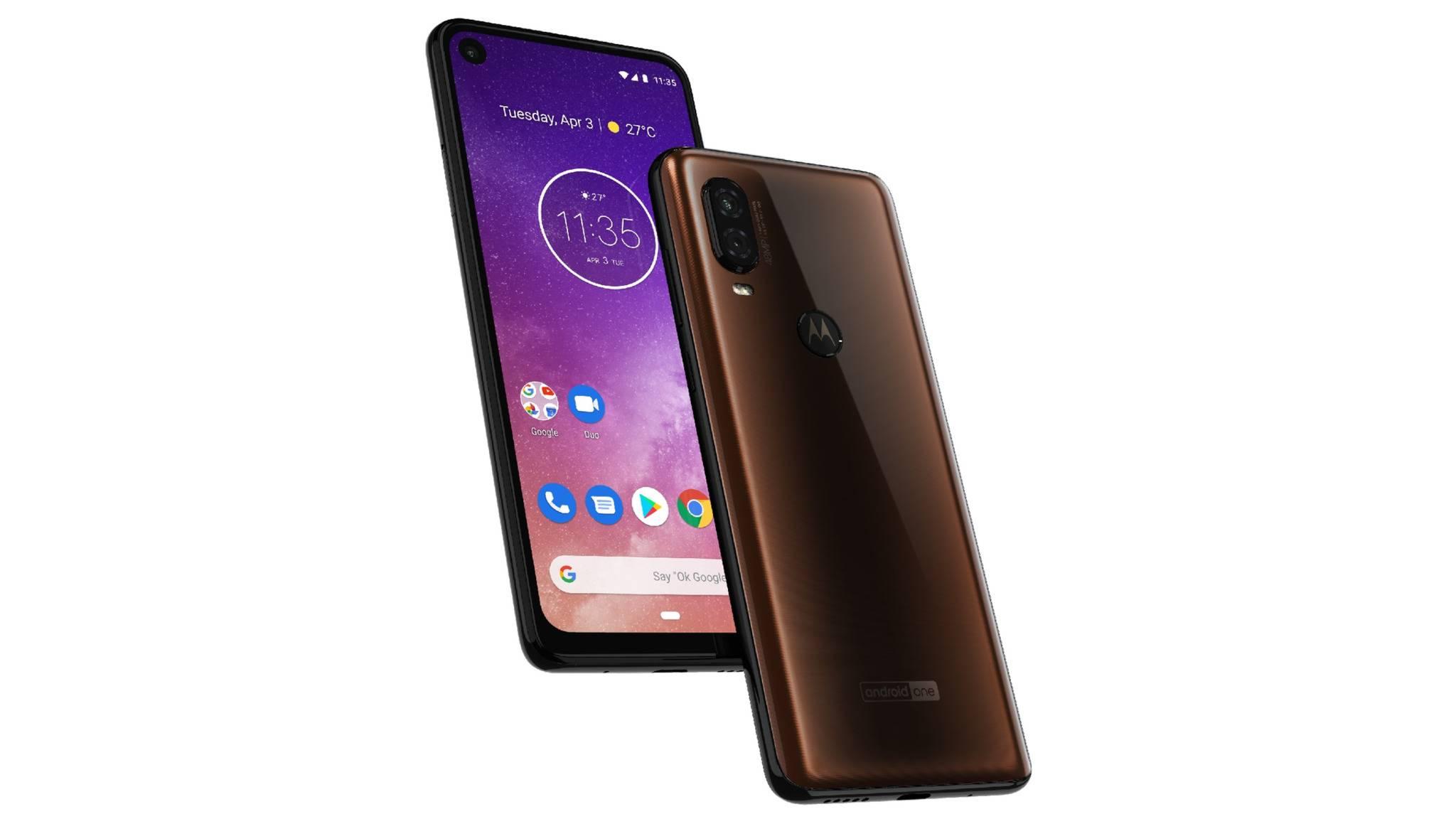 So soll das Motorola One Vision aussehen.