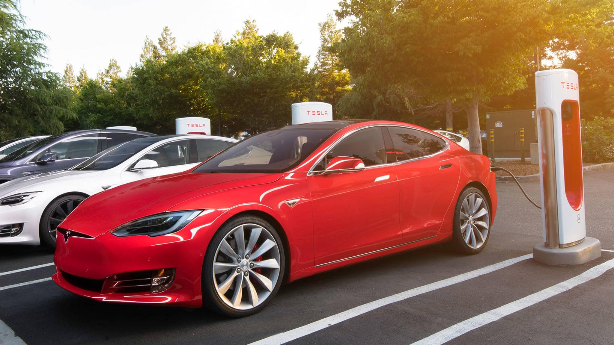 Mit den V3-Ladestationen kann das Model 3 noch schneller aufgeladen werden.