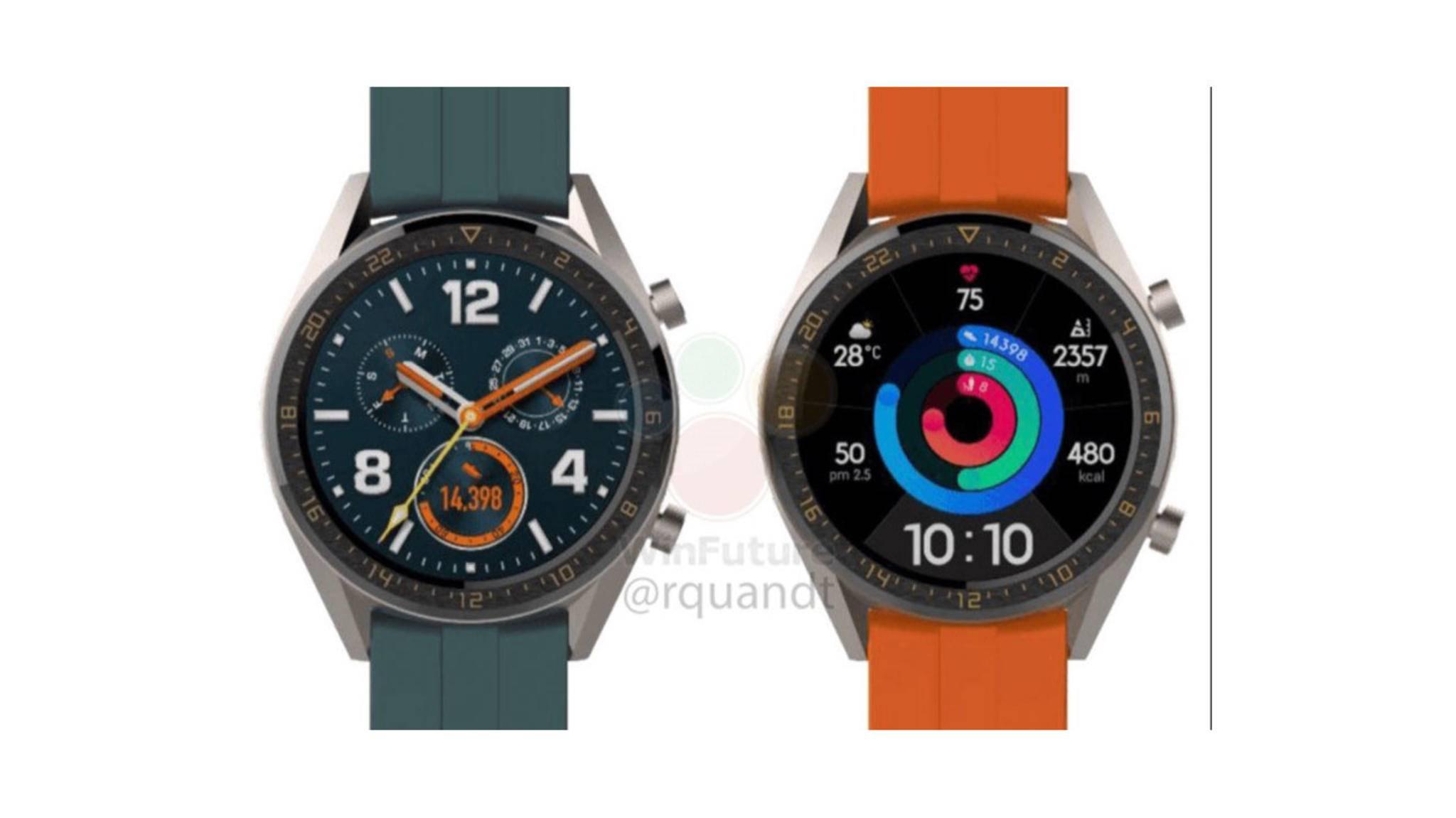 So soll die neue Huawei Watch GT Active aussehen, die Ende März vorgestellt werden dürfte.