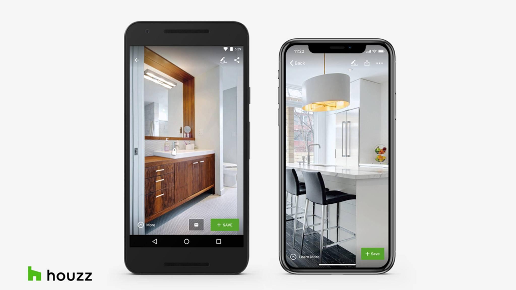 Einrichten per App: Houzz lässt Dich nun auch virtuell Fliesen verlegen.