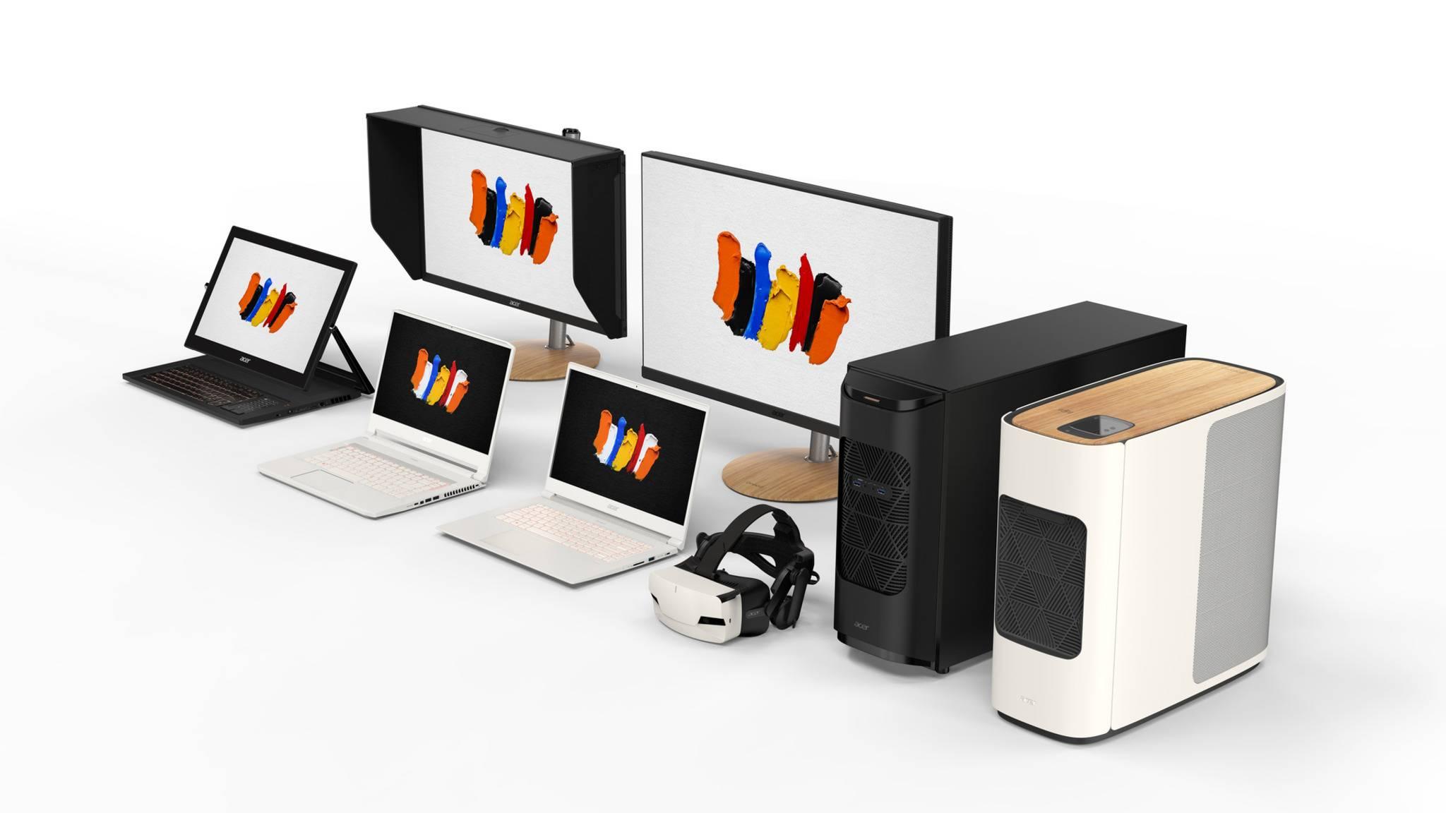 Zur ConceptD-Produktgruppe von Acer gehören auch leistungsstarke Desktop-PCs und Grafikmonitore.