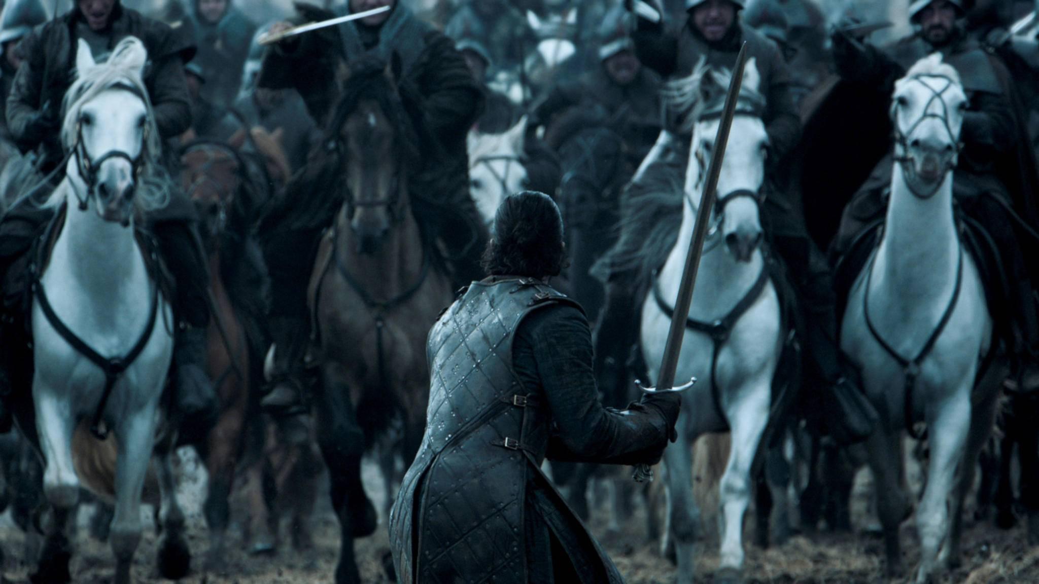 Jon Snow in der Schlacht der Bastarde.