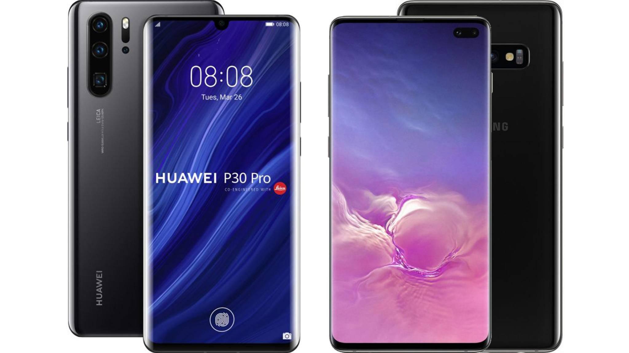 Das Huawei P30 Pro fordert das Galaxy S10 Plus heraus.