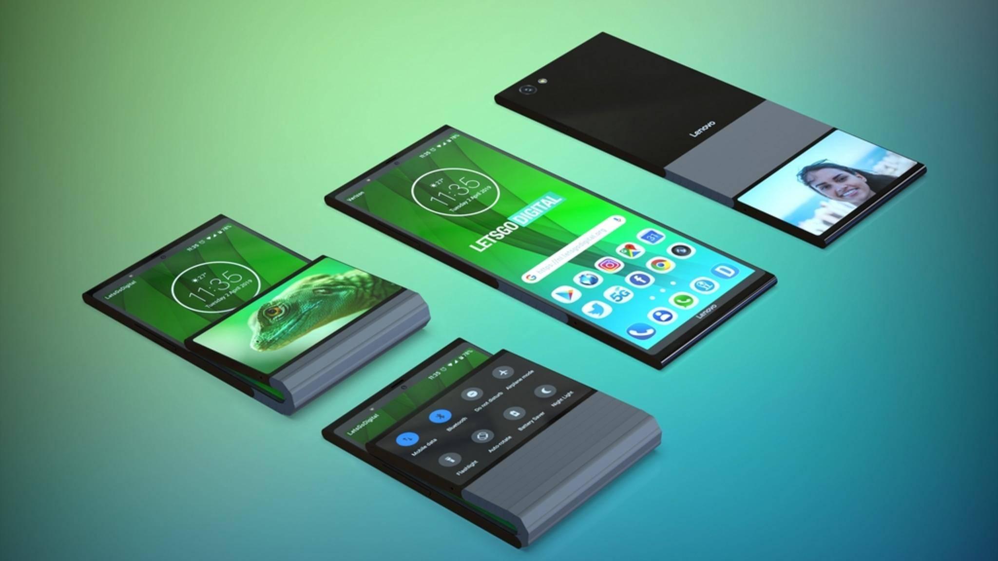 So sieht das faltbare Smartphone aus, das sich Lenovo vorstellt.