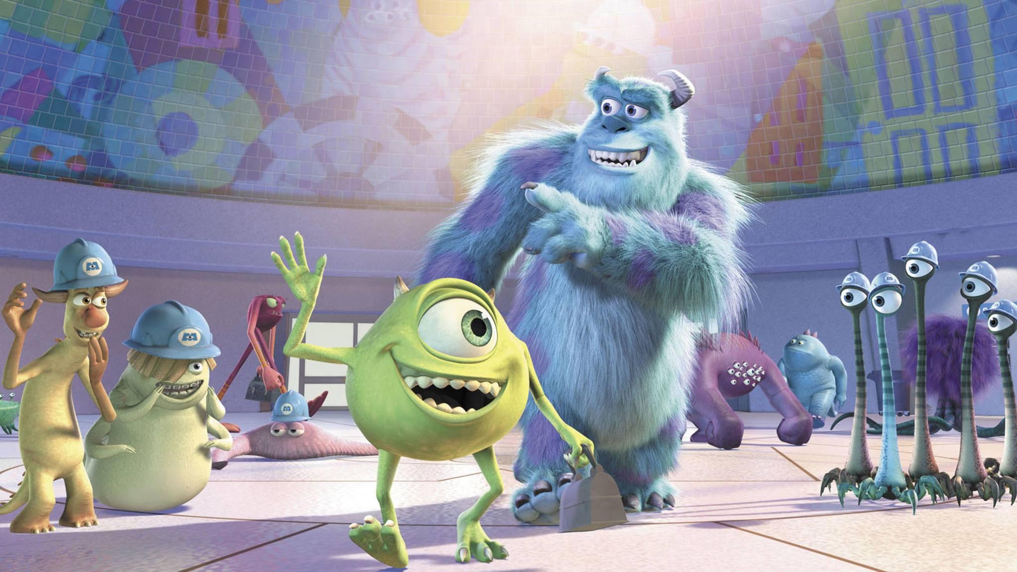 """Hey hey! Mike und Sulley melden sich bald mit einer neuen """"Monster AG""""-Serie auf Disney+ zum Dienst."""